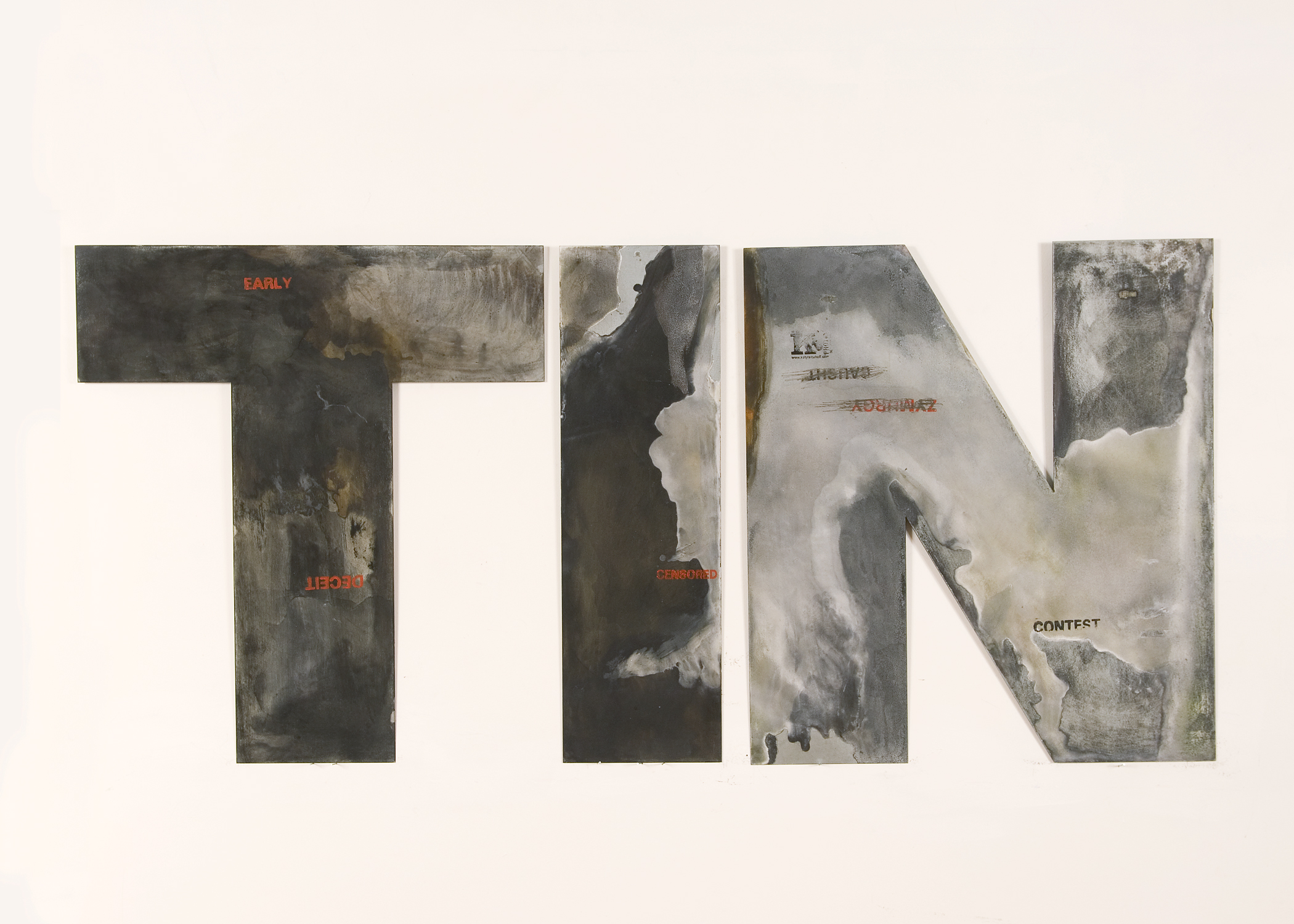 """TIN  69"""" x 30""""  (more pieces in different colors)"""