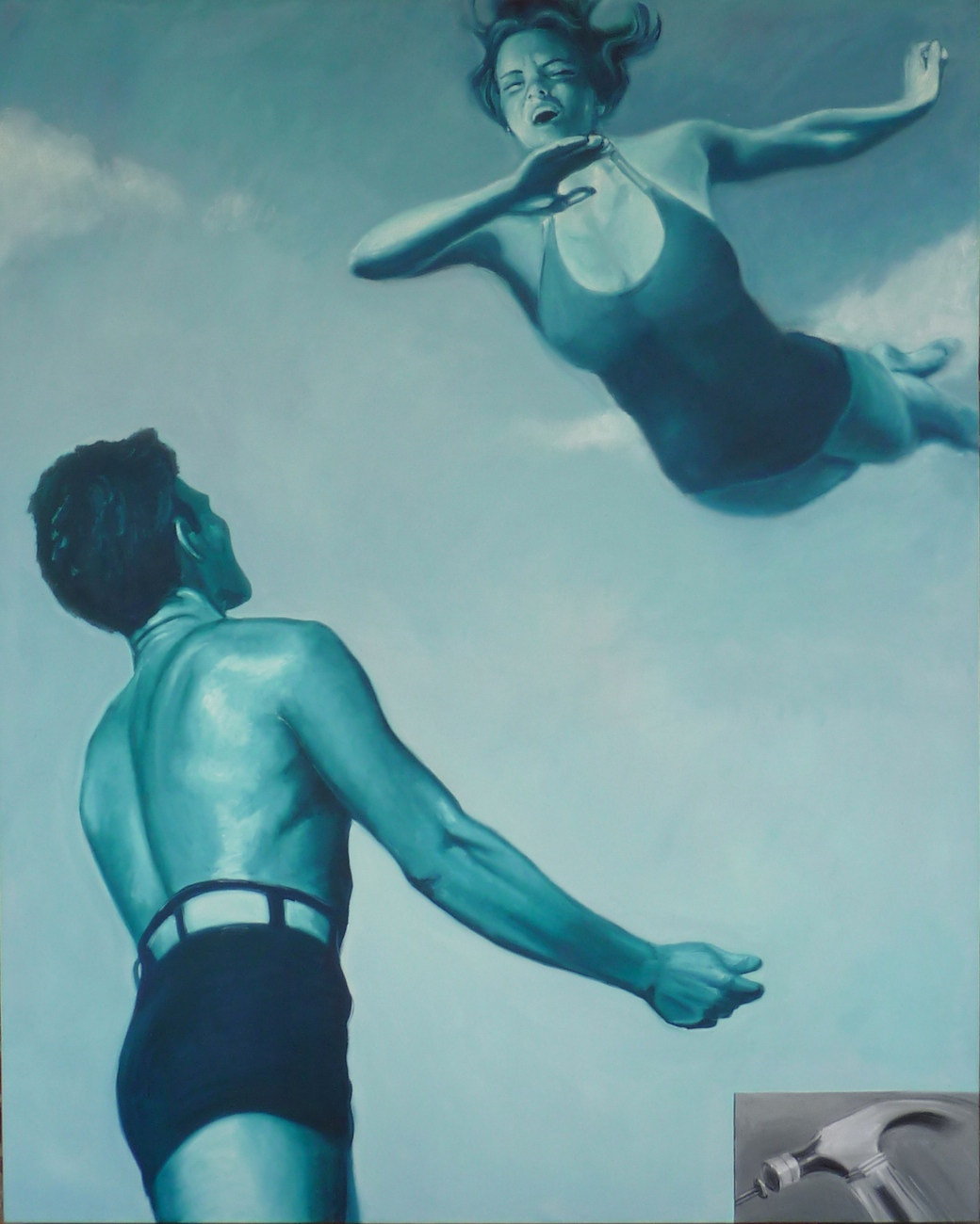 """Leap  oil on canvas  60"""" x 48"""""""