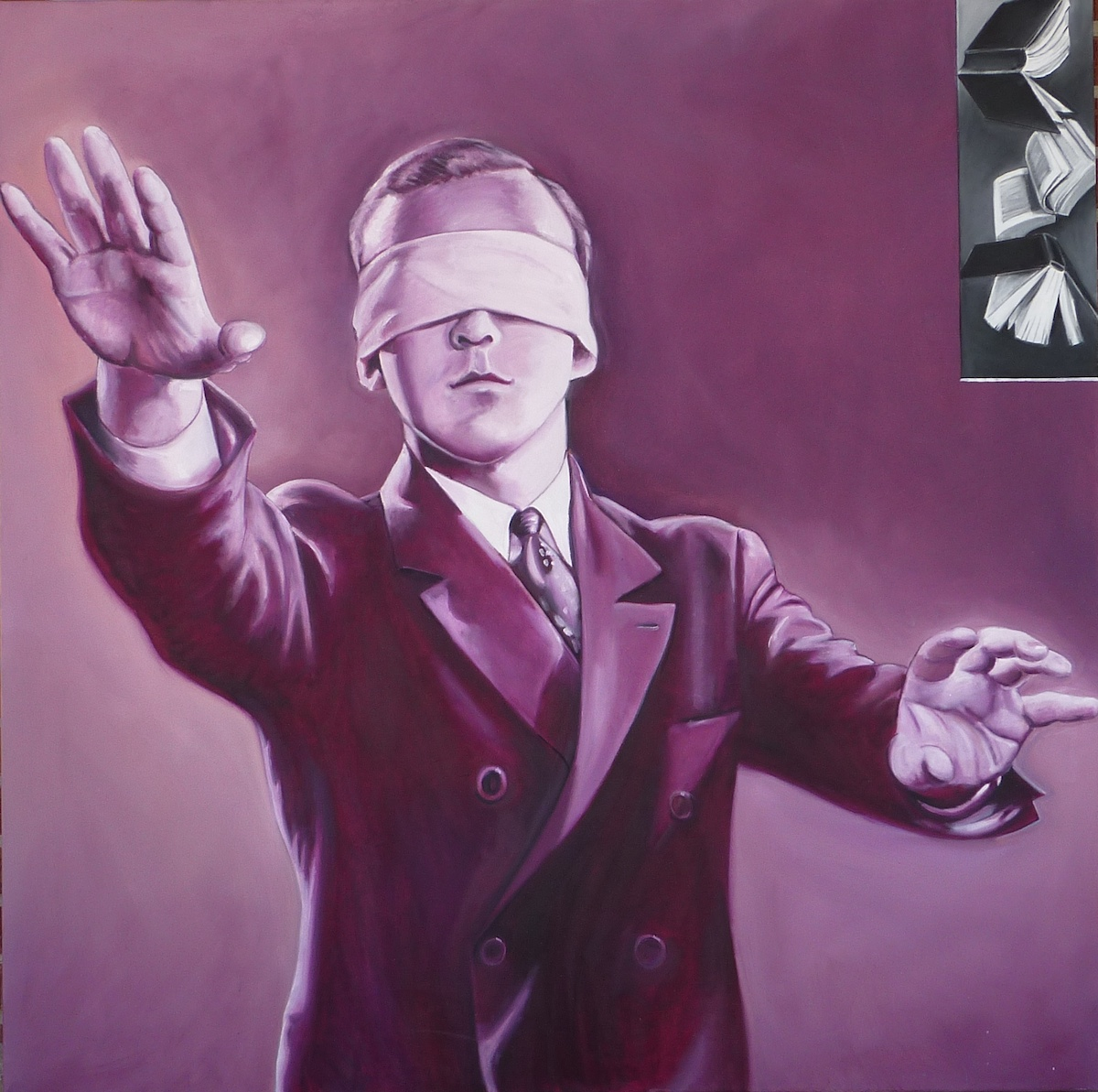 "Epistemology  oil on canvas  48"" x 48"""