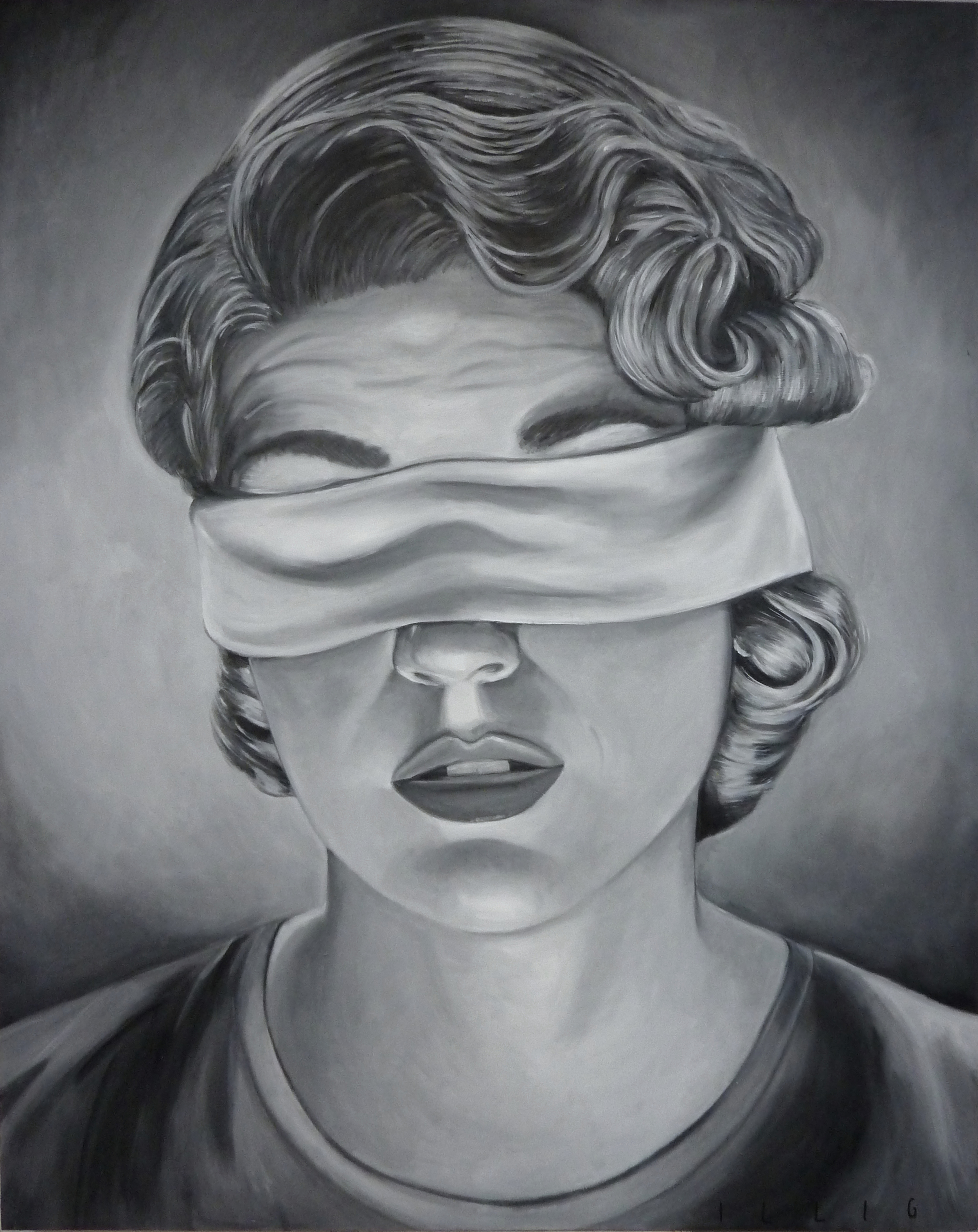 """Doubt  oil on canvas  60"""" x 48"""""""