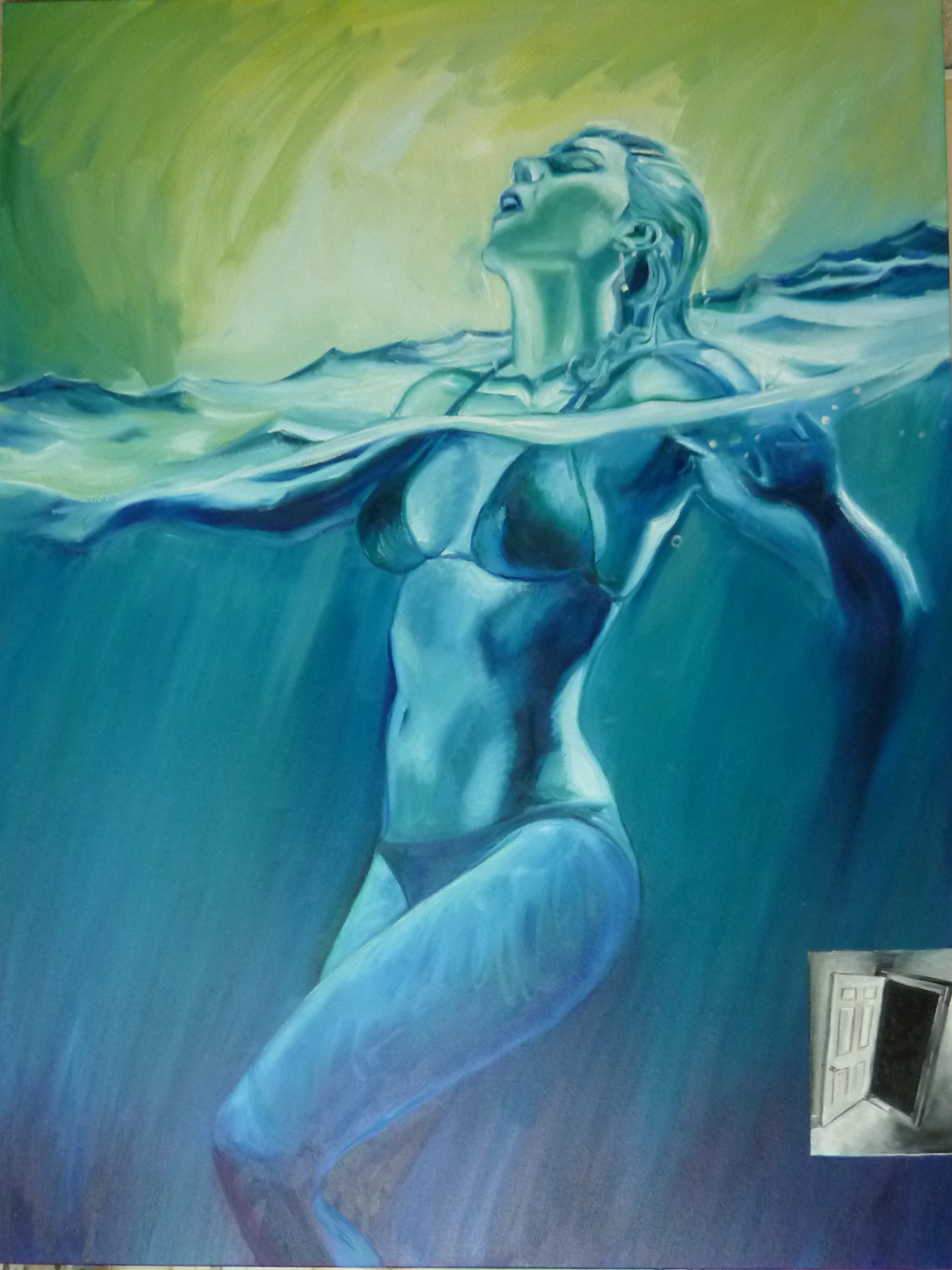 """Opera Aperta  oil on canvas  48"""" x 36"""""""