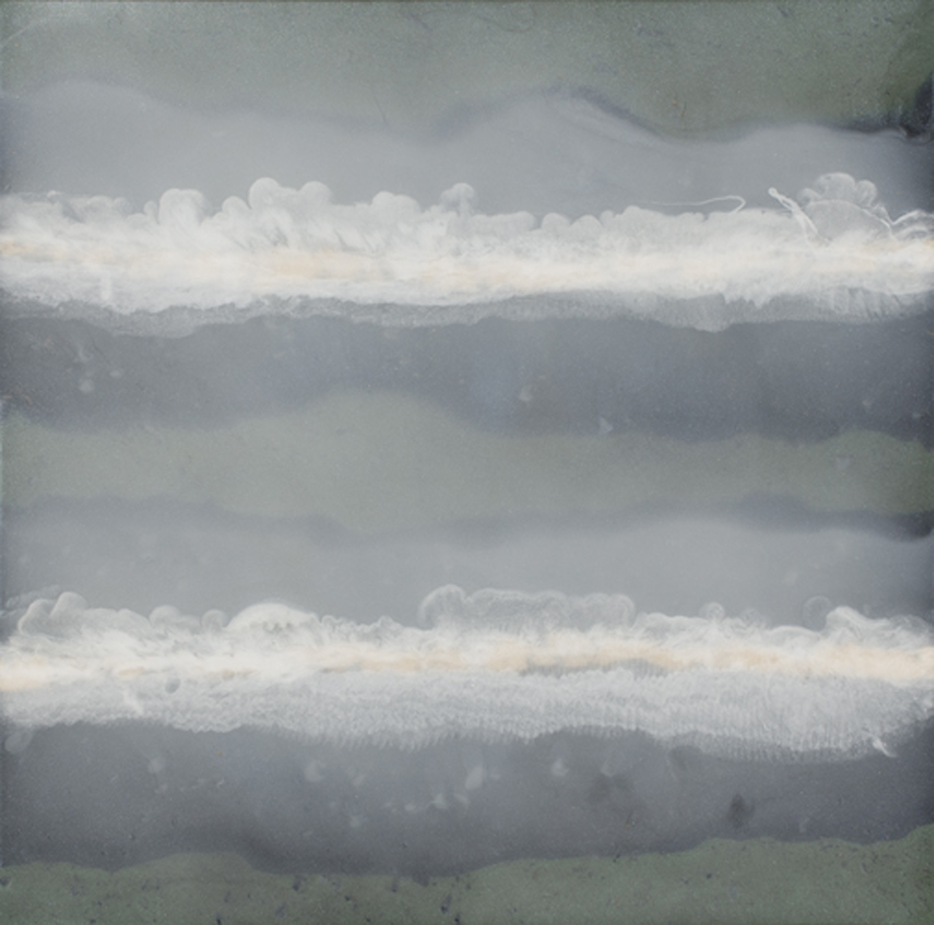 """Clouds Got In My Way  resin & acrylic paint on panel  36"""" x 36"""""""
