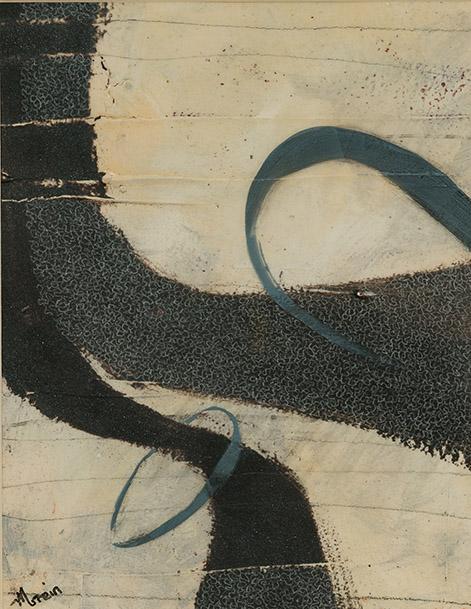 "Melanie Grein  ""Assumptions""  11x15  acrylic on paper"