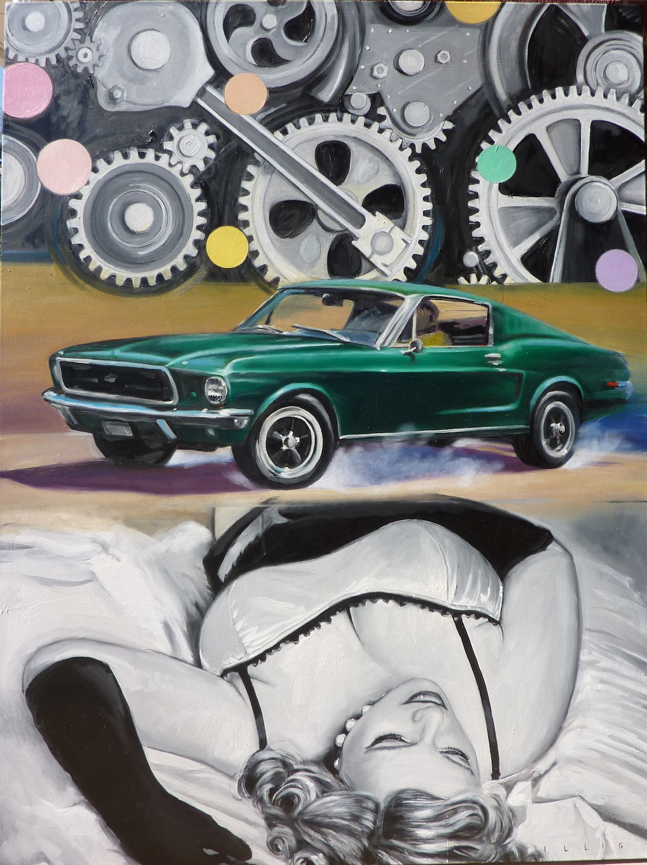 "Mechanism  Oil on canvas  48"" x 36"""