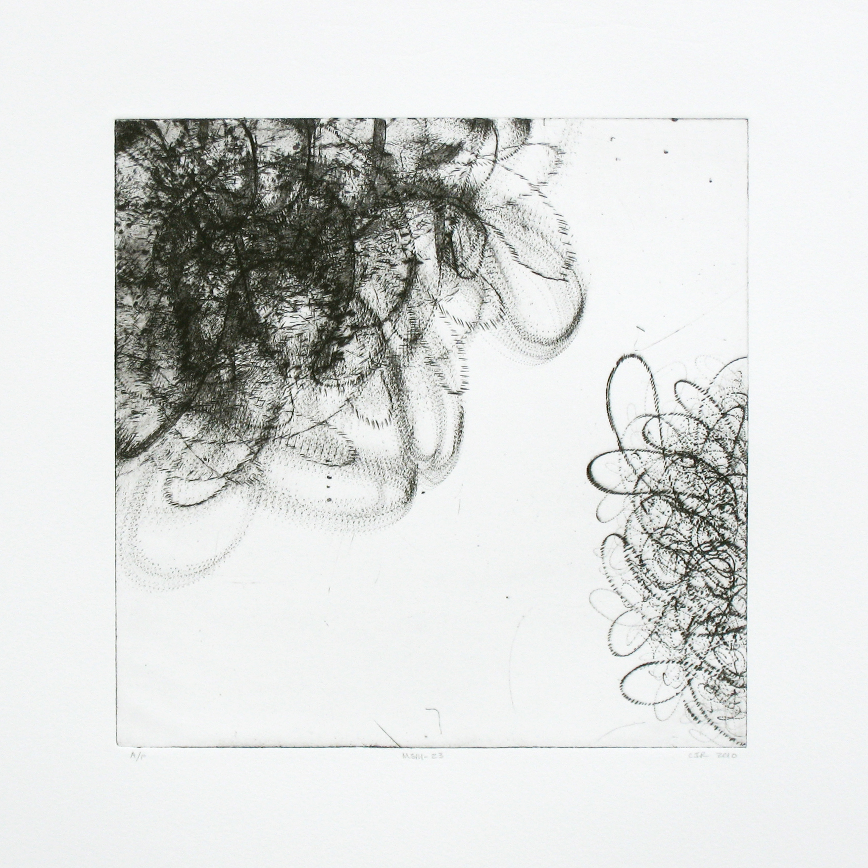 MSM-23 (B&w)  Intaglio: etching and drypoint  12 x 12 in.