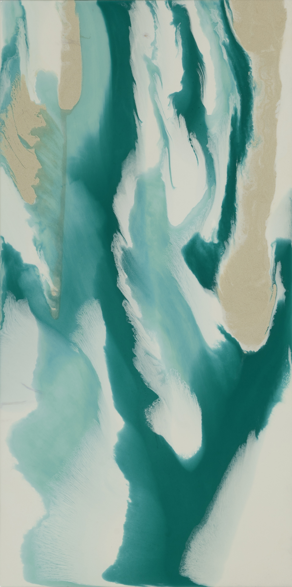 """Vicarious 2 (separate, or as diptych with Vicarious 1)  resin and acrylic paint  18"""" x 36"""""""