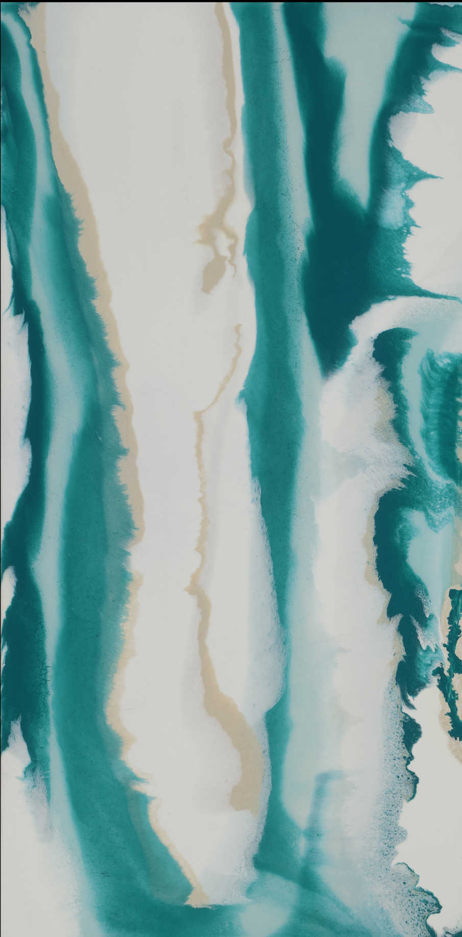"""Vicarious 1 (separate, or as diptych with Vicarious 2)  resin and acrylic paint  18"""" x 36"""""""