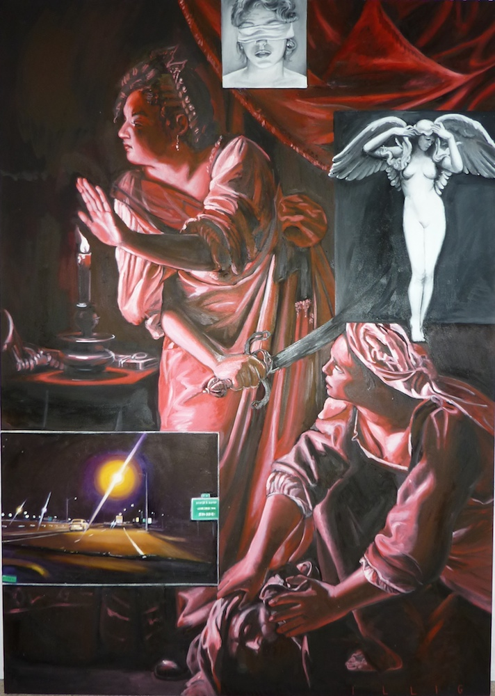 """Analogue  oil on canvas  62"""" x 44"""""""