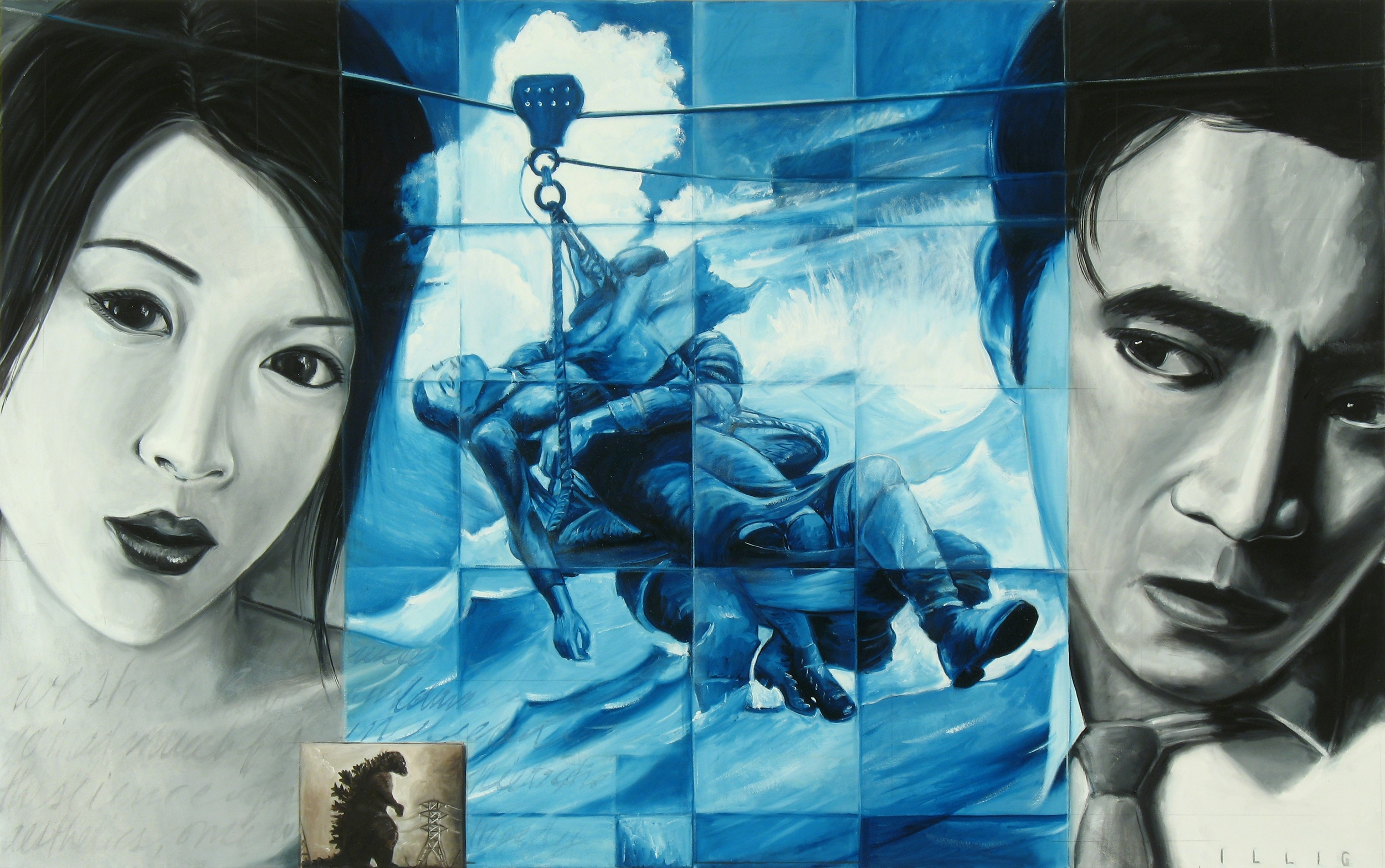 """Transition Team  oil on canvas  34"""" x 54"""""""