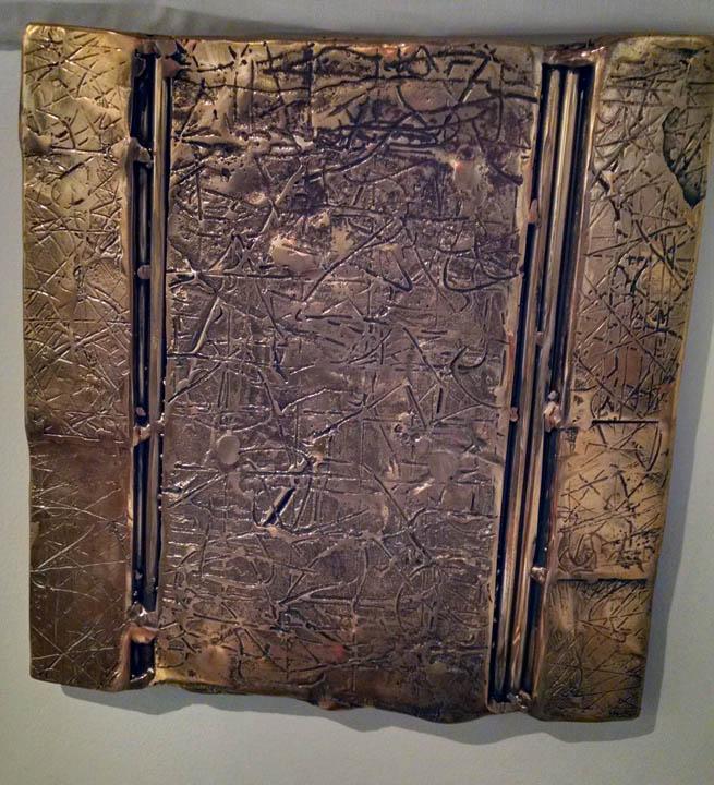 Untitled  cast & fabricated manganese bronze  12x12
