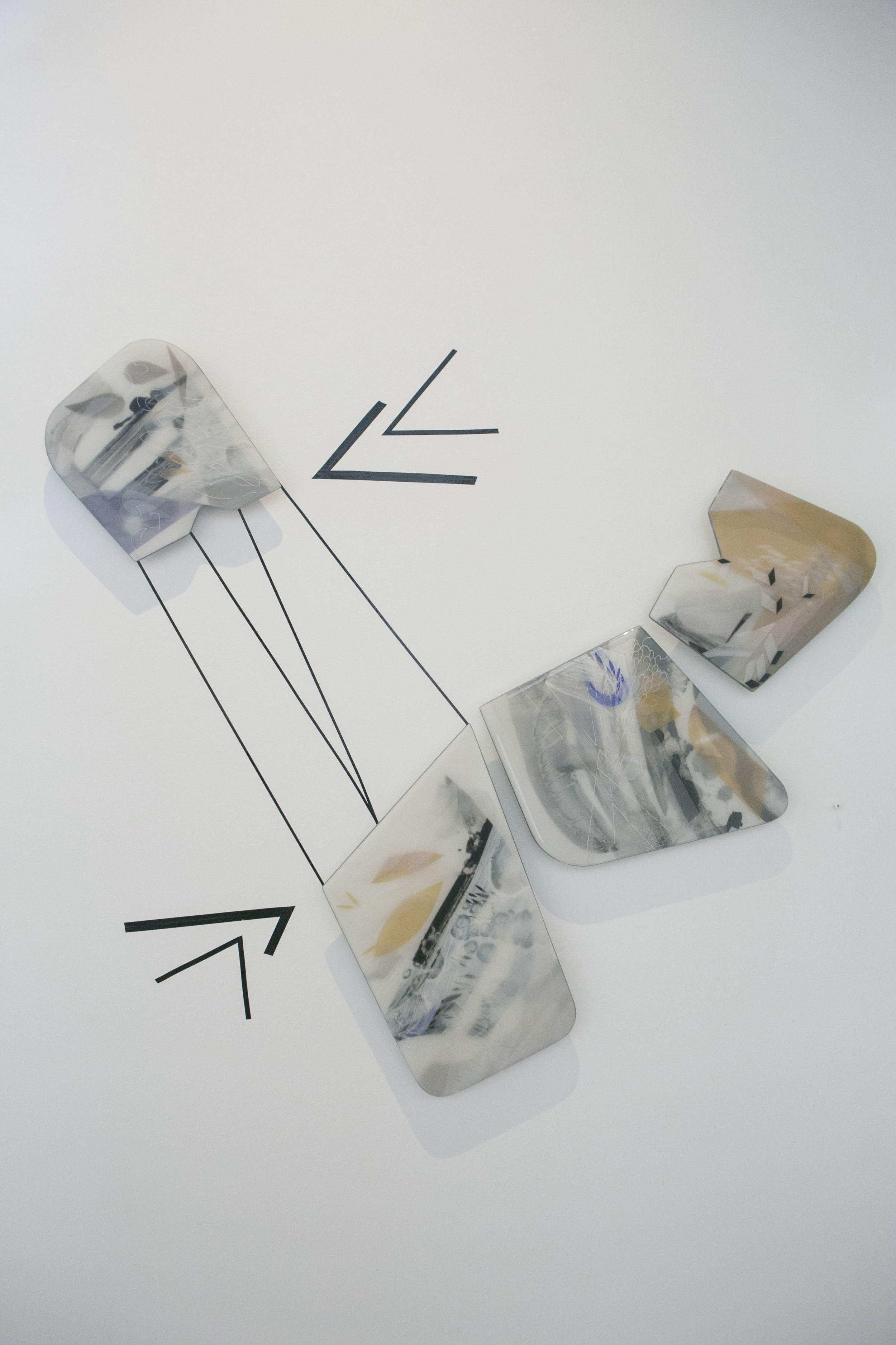 From left to right:  10.1   8x8.75 10.2  12x10 10.3   12x10 10.4   9x10  mixed media photography in resin