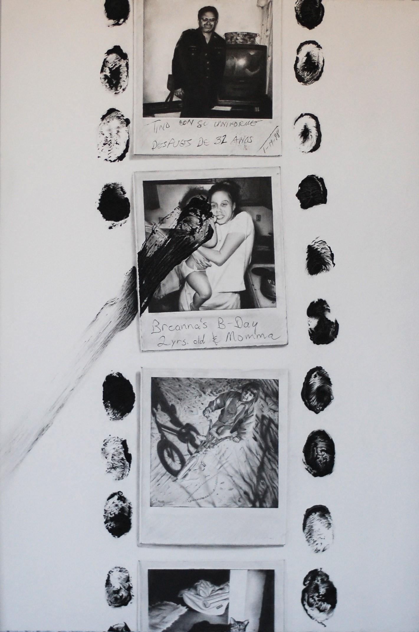 "Photo Reel  graphite powder, pencil and conte on paper  23"" x 33"""