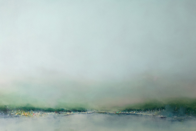 "Derrick Breidenthal  ""Gathering""  oil on panel, 60x40"