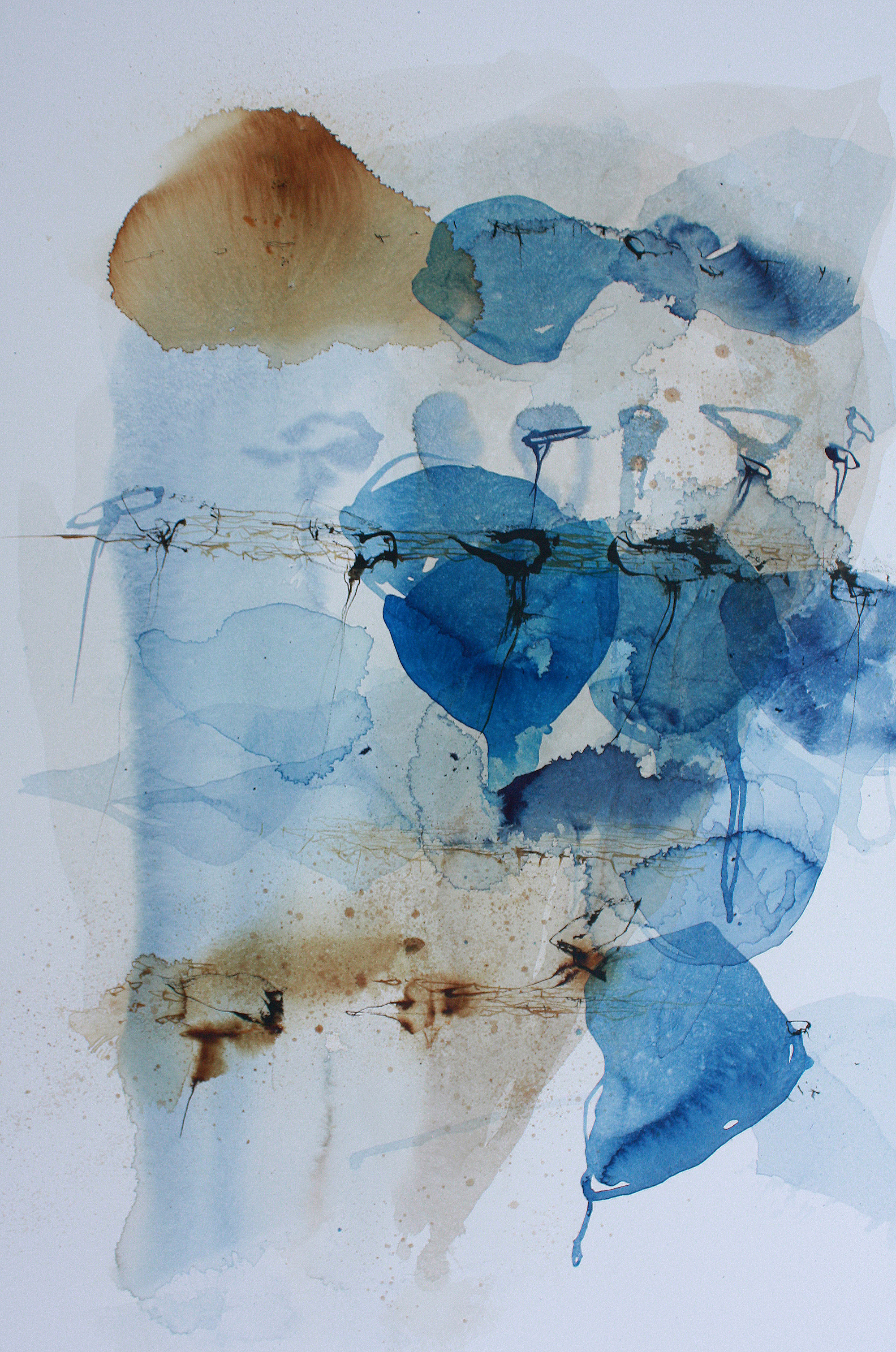 """Ana Zanic  from the """"Voyage"""" series, watercolor on aquaboard panel  24x36"""