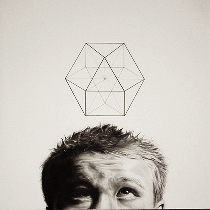 """Tim Main  """"I Dream of Equilibrium""""  graphite on paper, 20x20"""