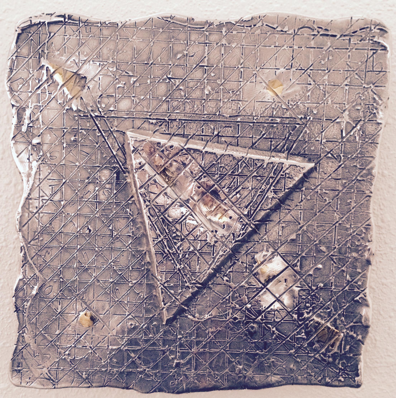 """Bill Vielehr  """"Wall Jewel 1""""  cast aluminum, 12x12"""