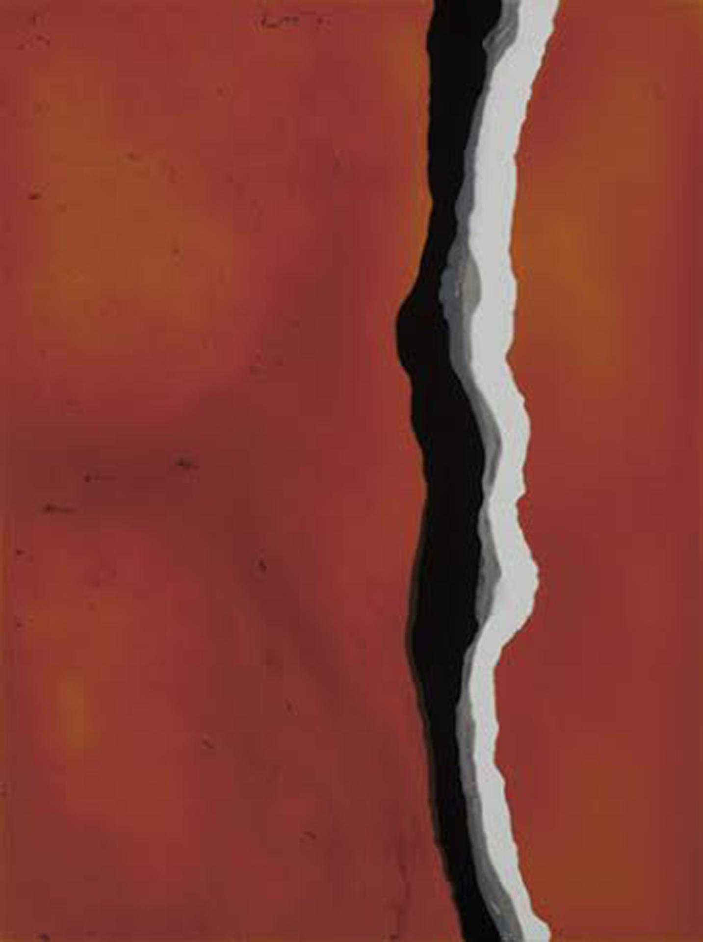 "Lambent  resin & acrylic paint on panel  30"" x 40"""