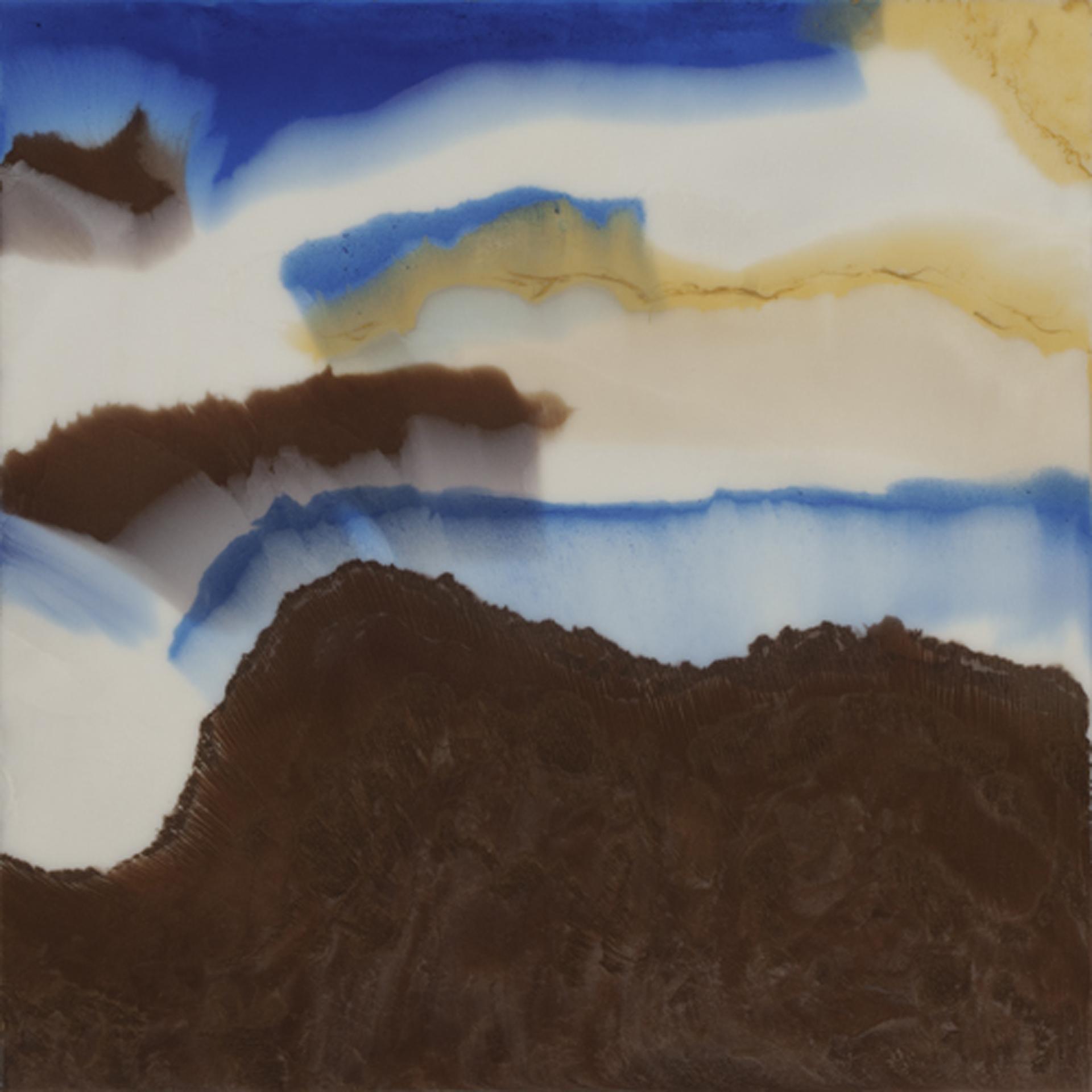 "Summertime  resin & acrylic paint on panel  30"" x 30"""