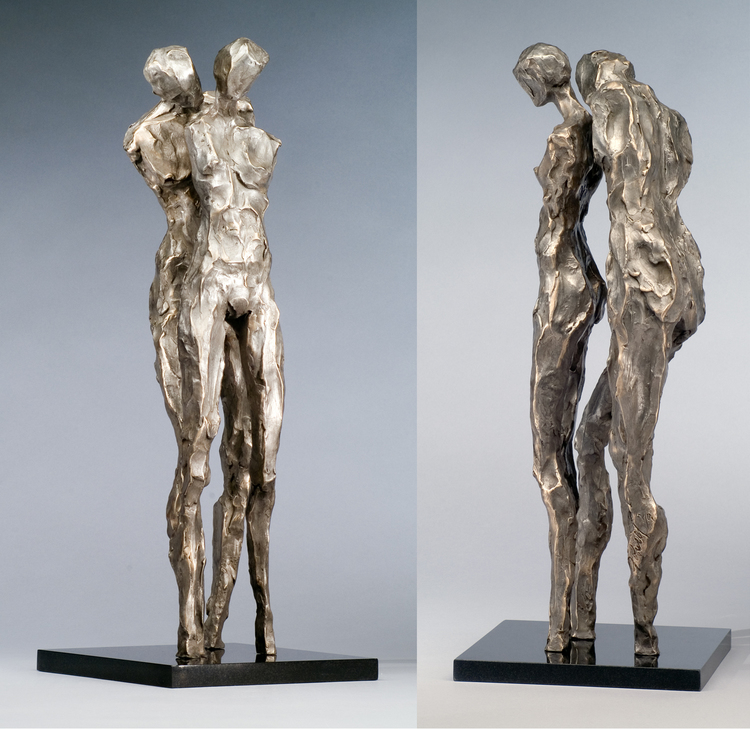 "Breathless  bronze  24"" x 9"" x 9"""