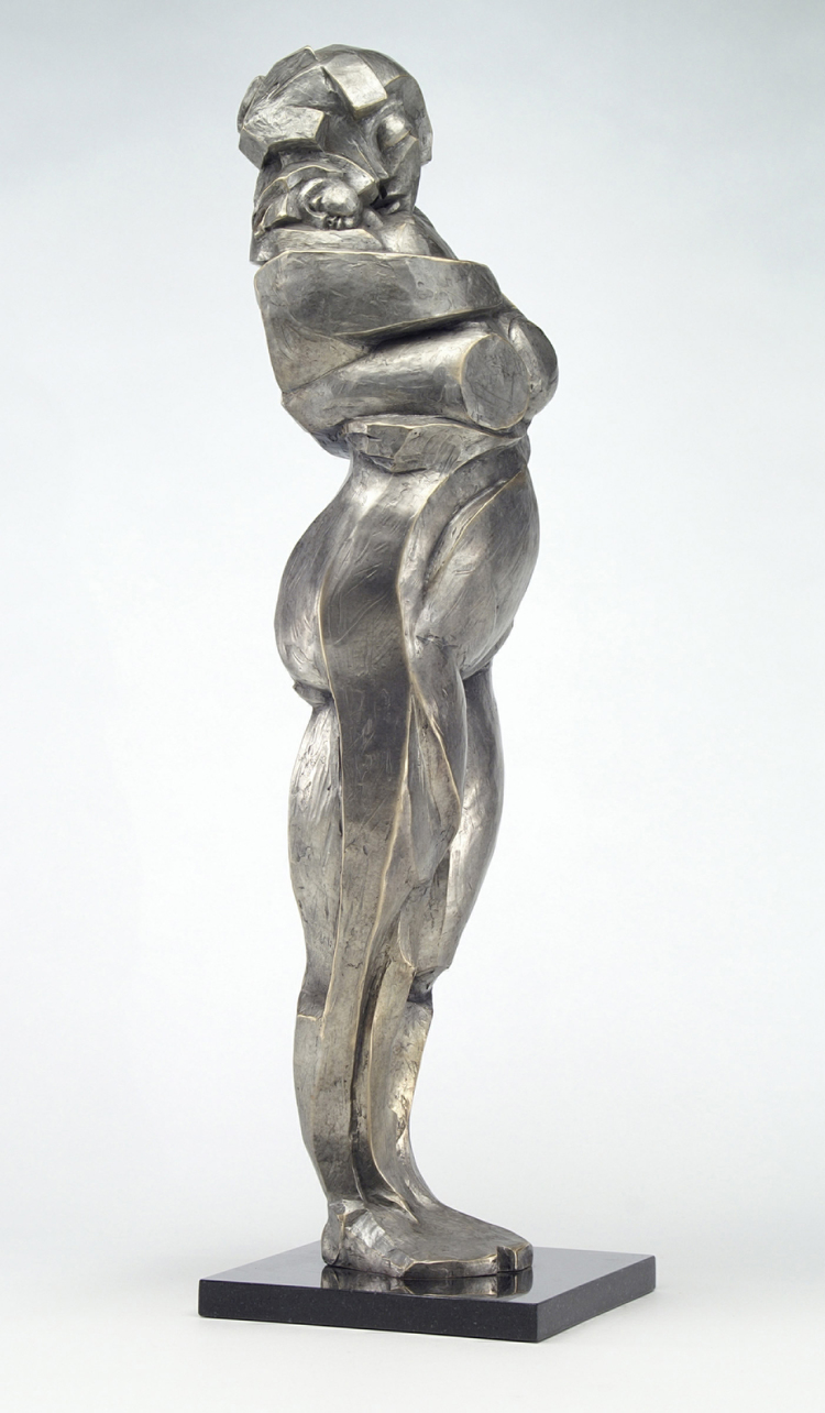 """Me and Thee  bronze  30"""" x 8"""" x 9"""" 72"""" x 30"""" x 30"""""""