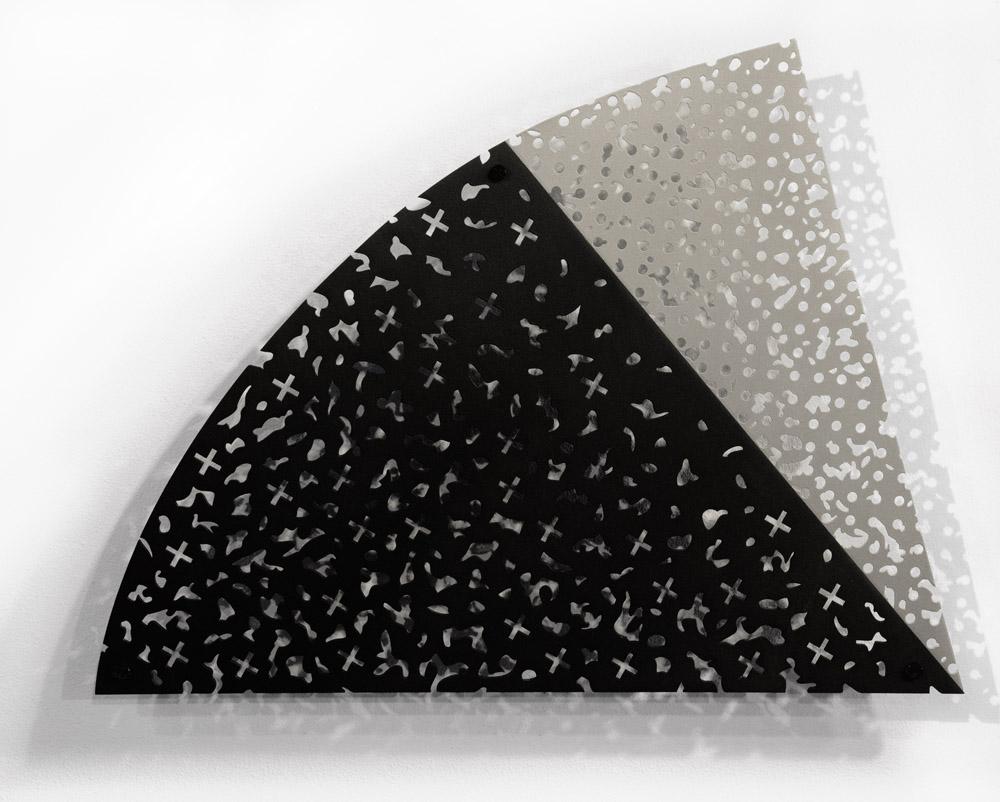 Arc Epilogue  powder coated aluminum & painted baltic birch  27.5x36.5x3