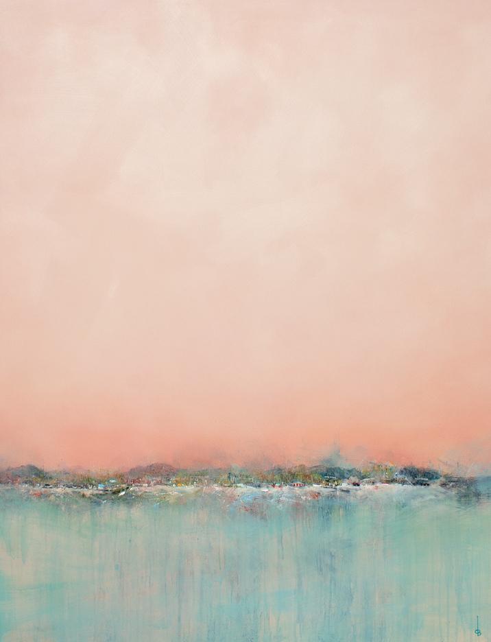 "Derrick Breidenthal  ""Gathering 2""  oil on panel  36x47"