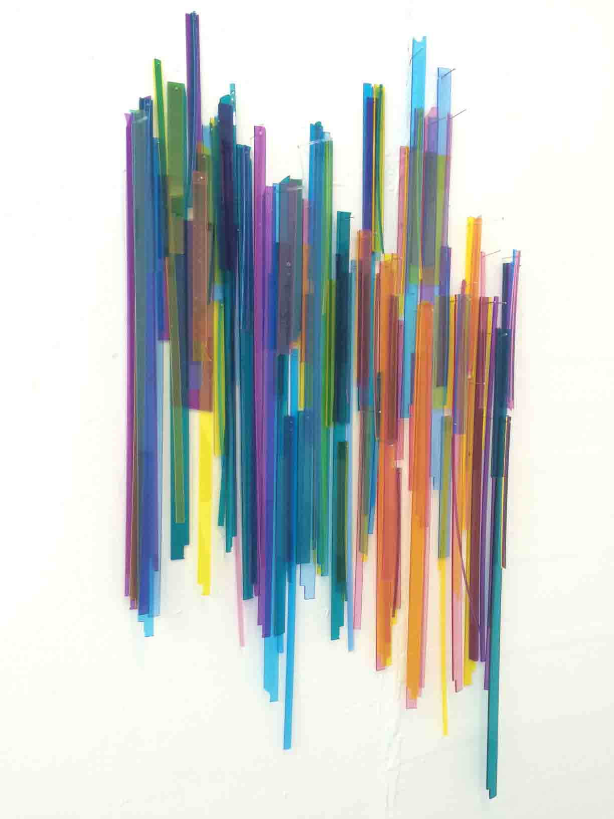 "Color Wonder  acrylic, wood & brass  30"" x 46"" x 3.5"""