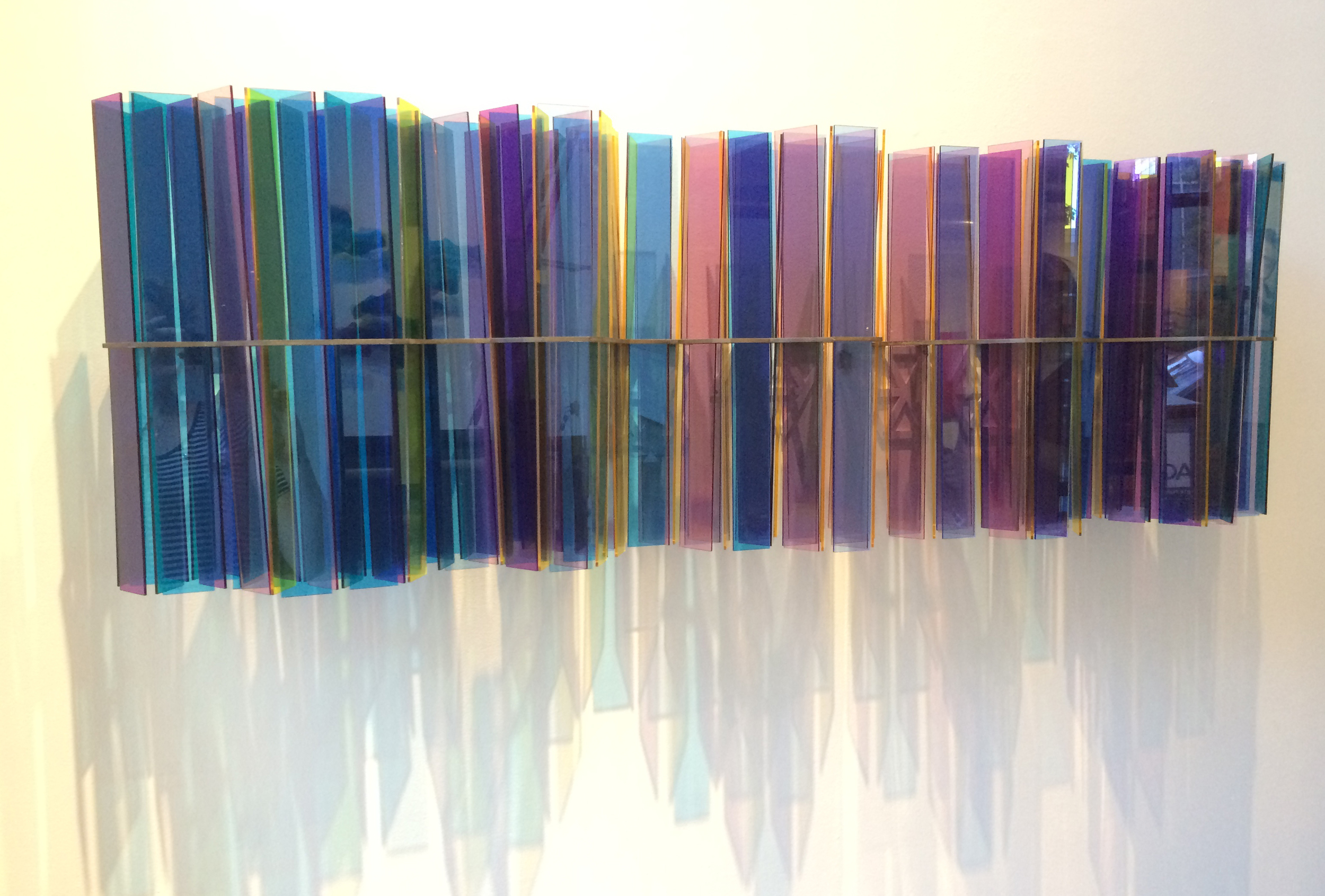 "Prismatic (diptych)  acrylic & steel  60"" x 19"" x 10"""