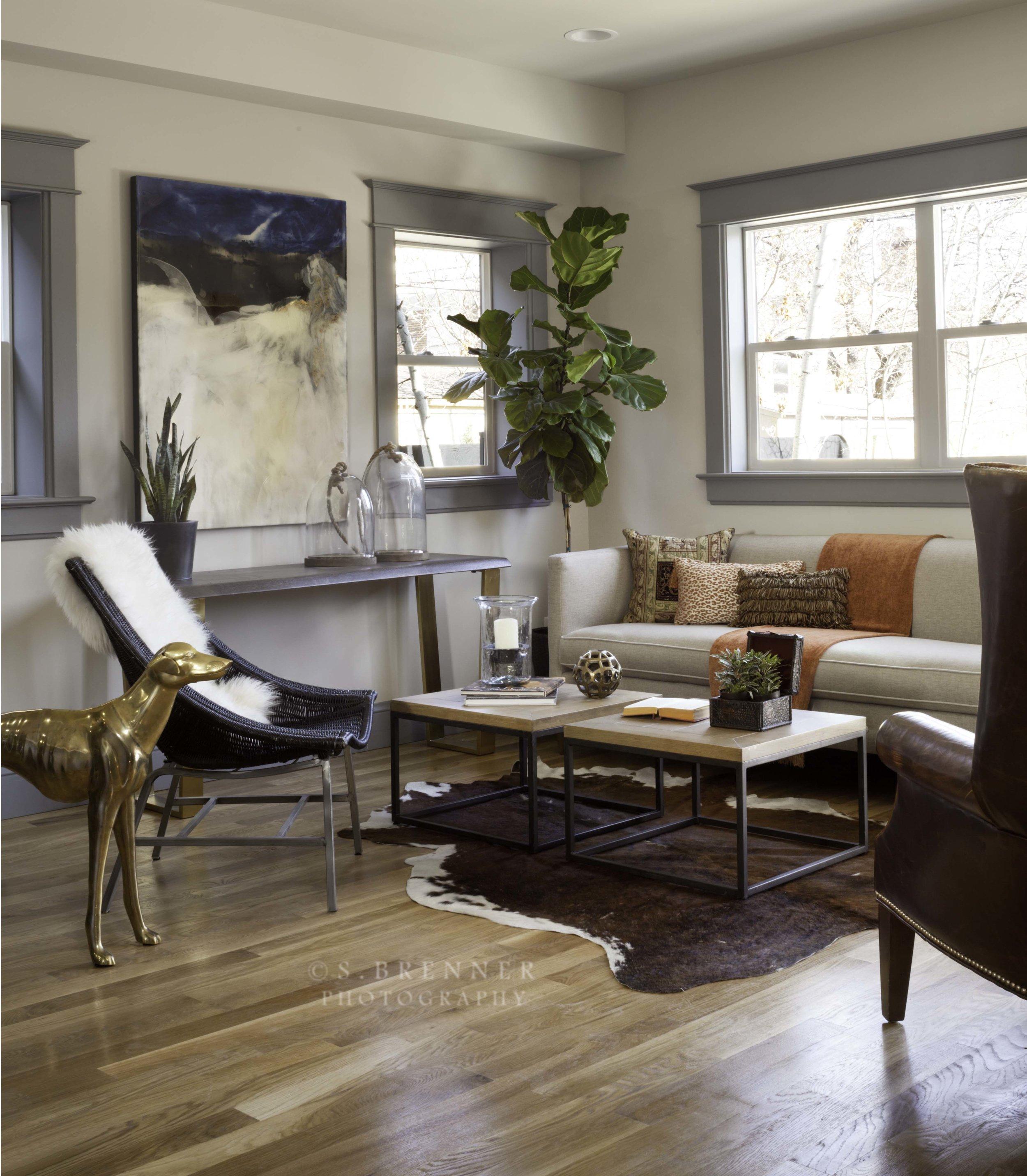 Private Residence. Design: Kim Layne Interiors. S. Brenner Photography. Artist: Patricia Finley.