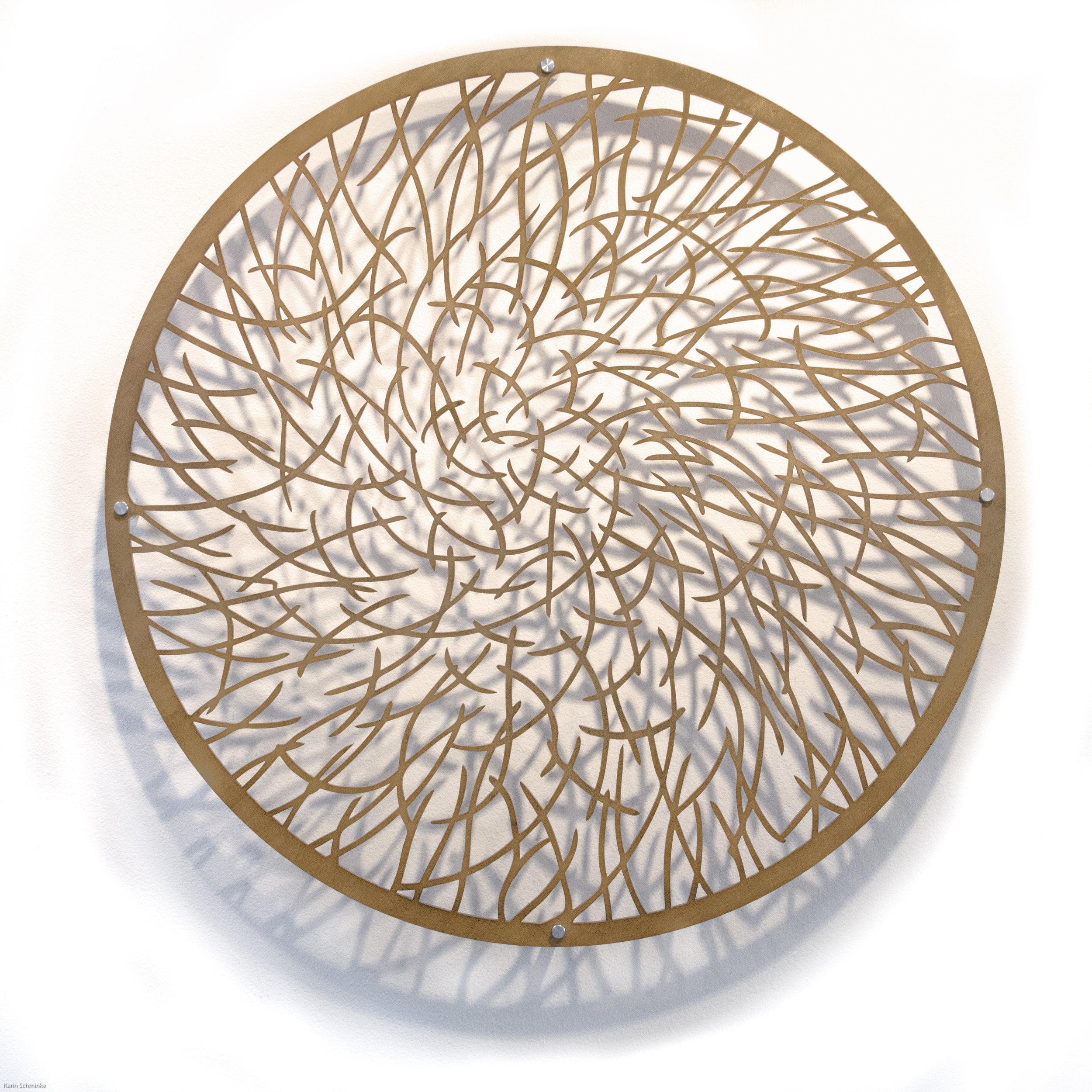 "Karin Schminke  ""Light Pond 1""  Baltic Birch  36"" diameter"