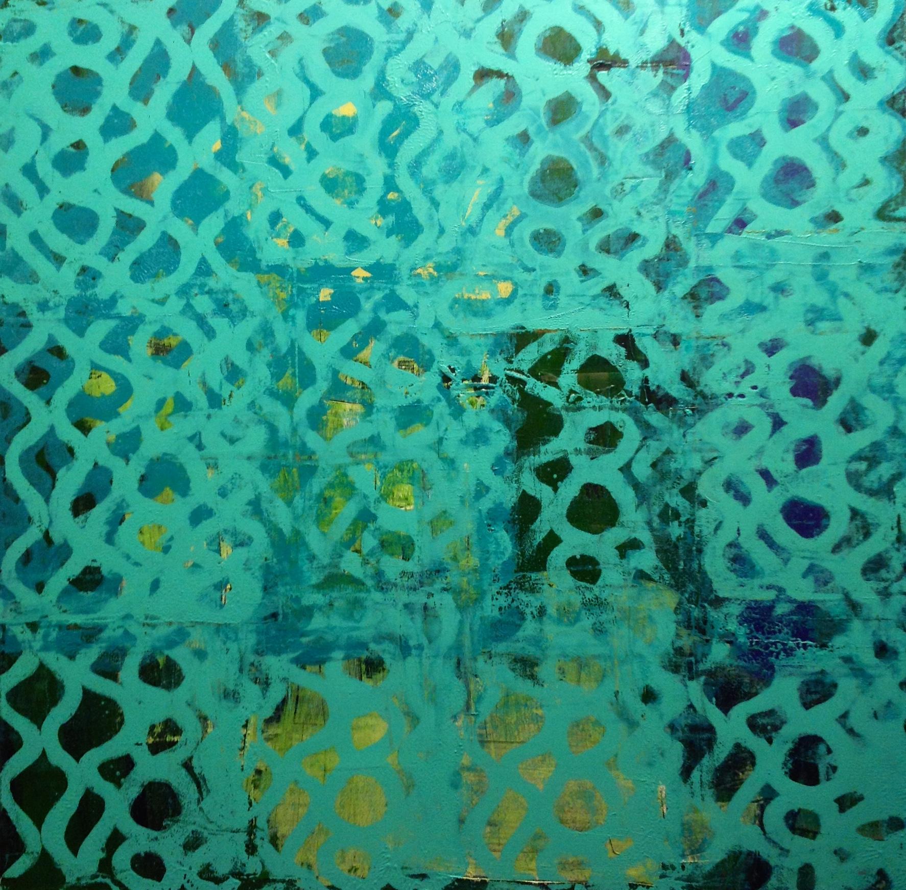 "Eric Corrigan  ""Blue""  oil on canvas, 50x50"