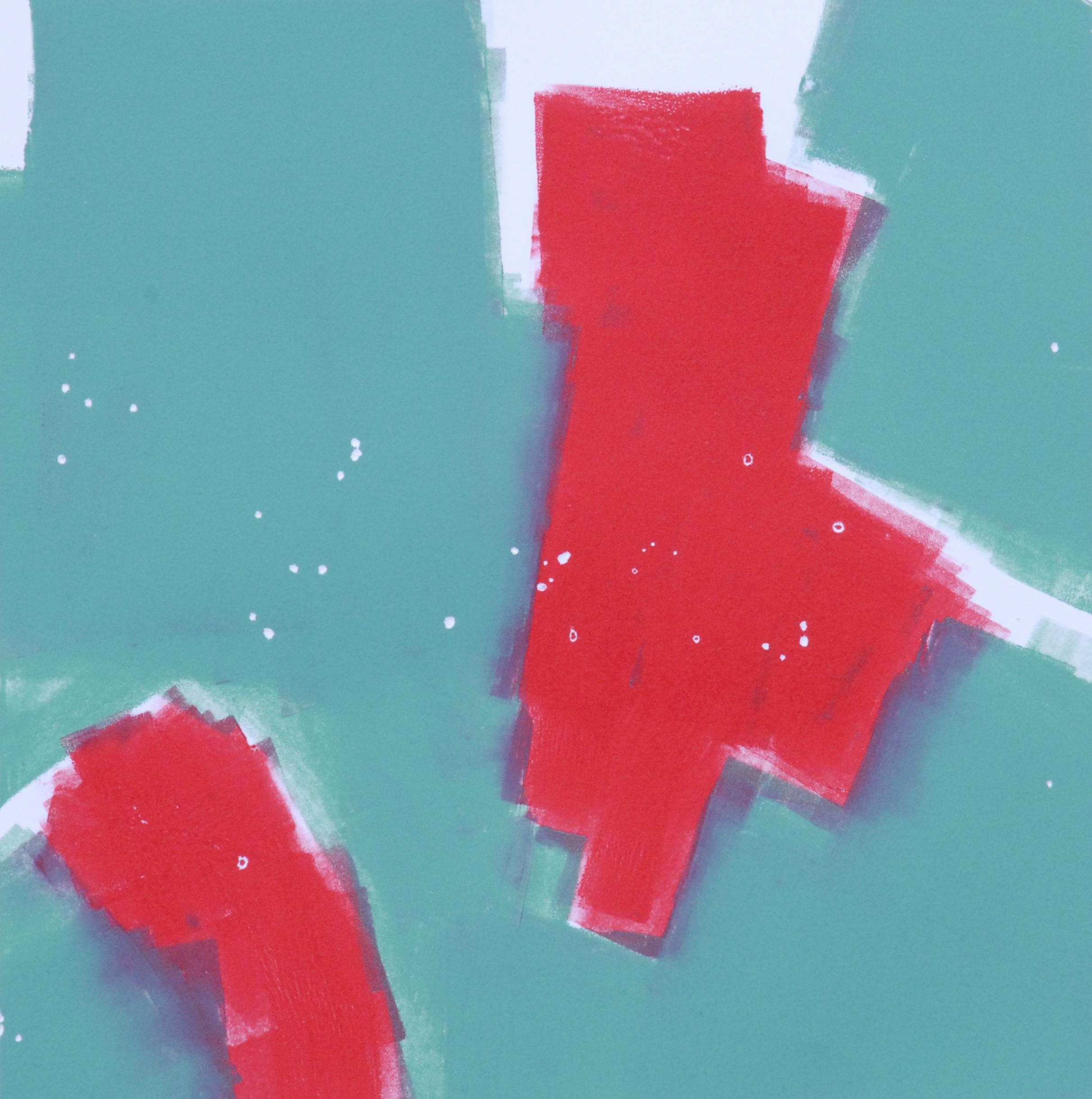 "Sodium Deviation 19, 2016  monoprint  10"" x 10""image on 11"" x 14"" paper"
