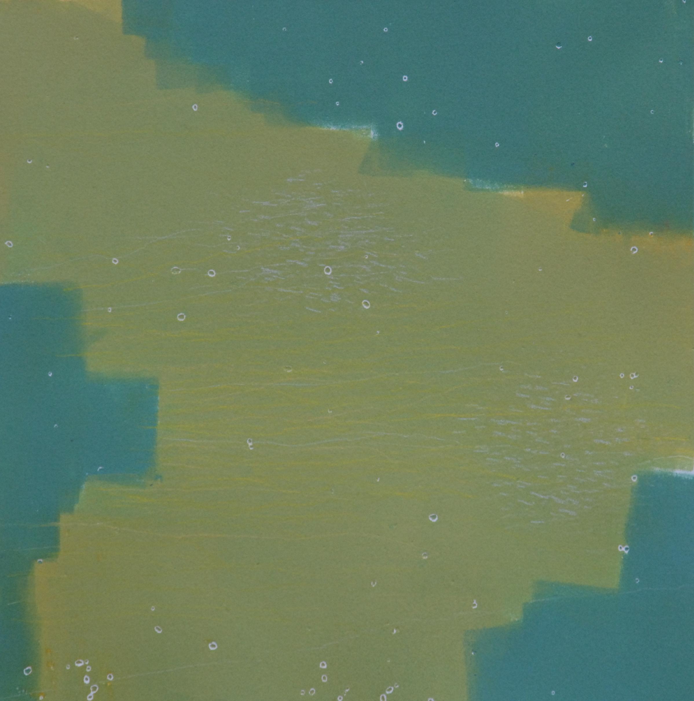 "Sodium Deviation 24, 2016  monoprint  10"" x 10"" image on 11"" x 14"" paper"