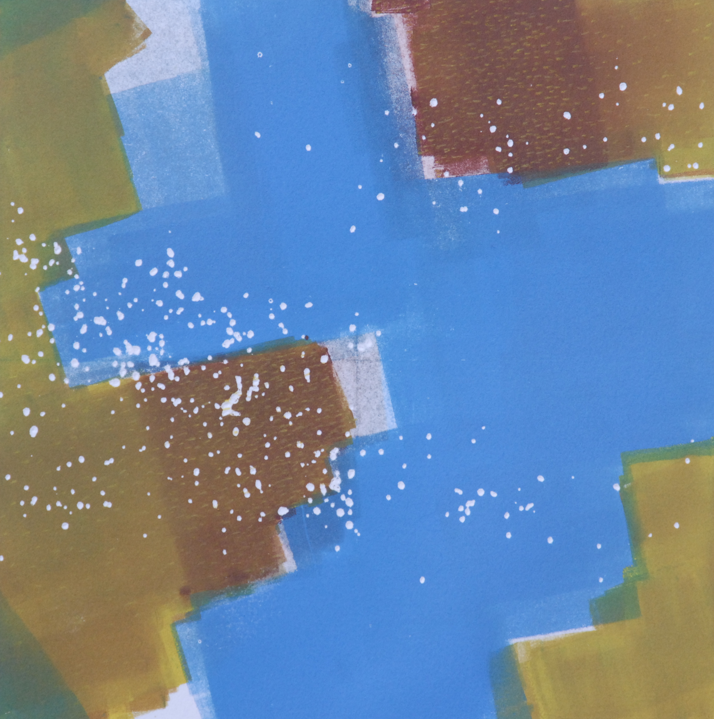 "Sodium Deviation 33, 2016  monoprint  10"" x 10"" image on 11"" x 14"" paper"