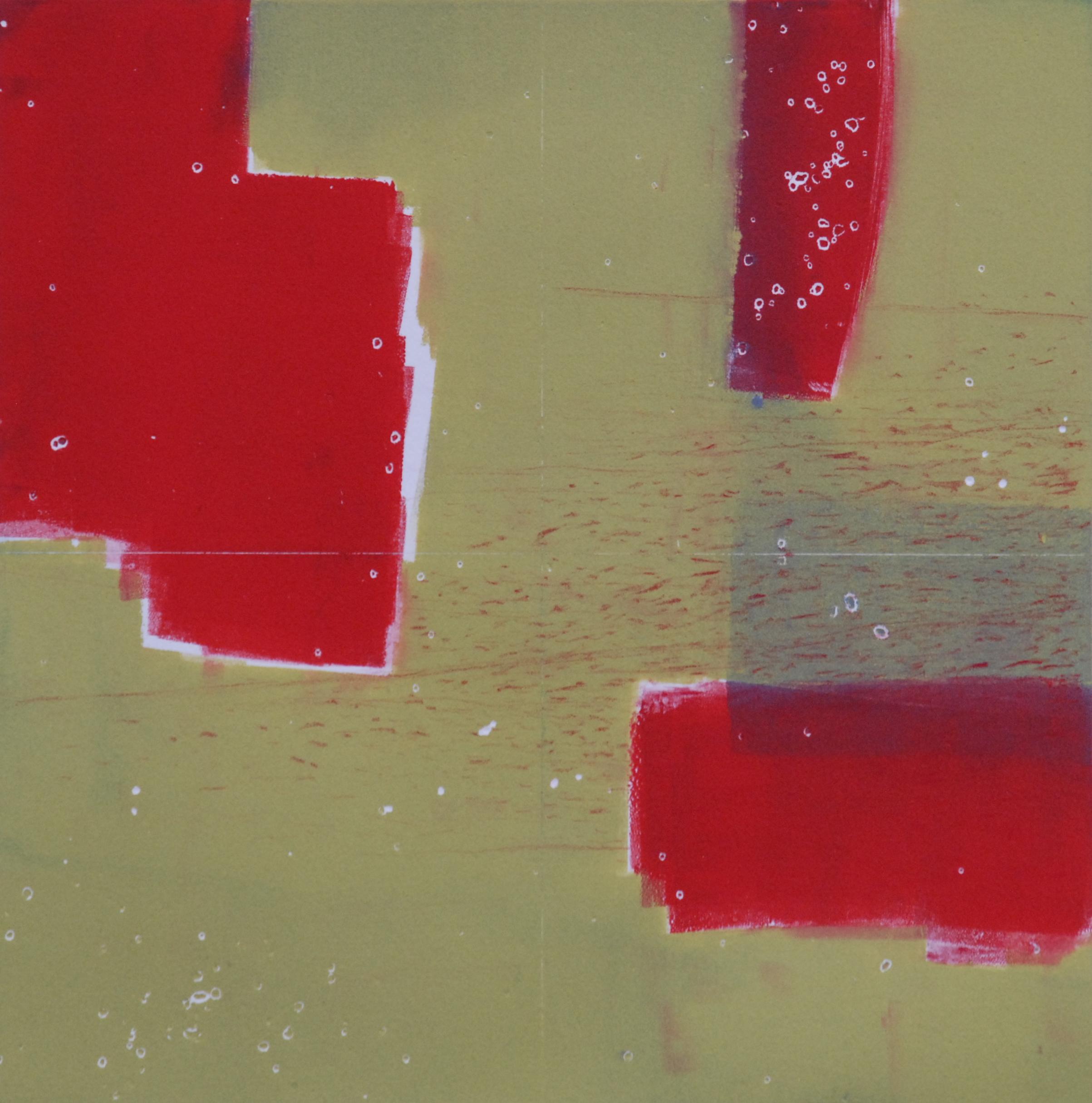 "Sodium Deviation 38, 2016  monoprint  10"" x 10"" image on 11"" x 14"" paper"
