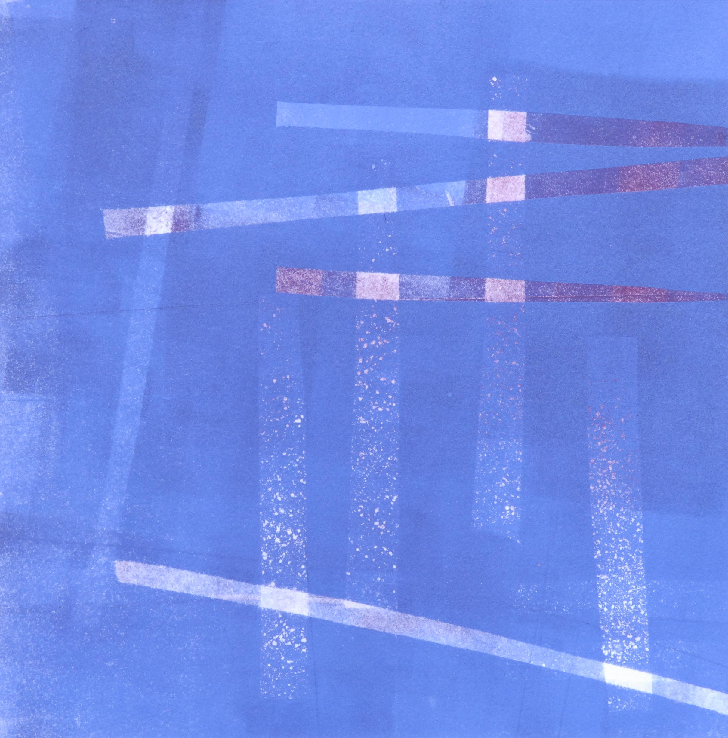 "Sodium Deviation 47, 2016  monoprint  10"" x 10"" image on 11"" x 14"" paper"