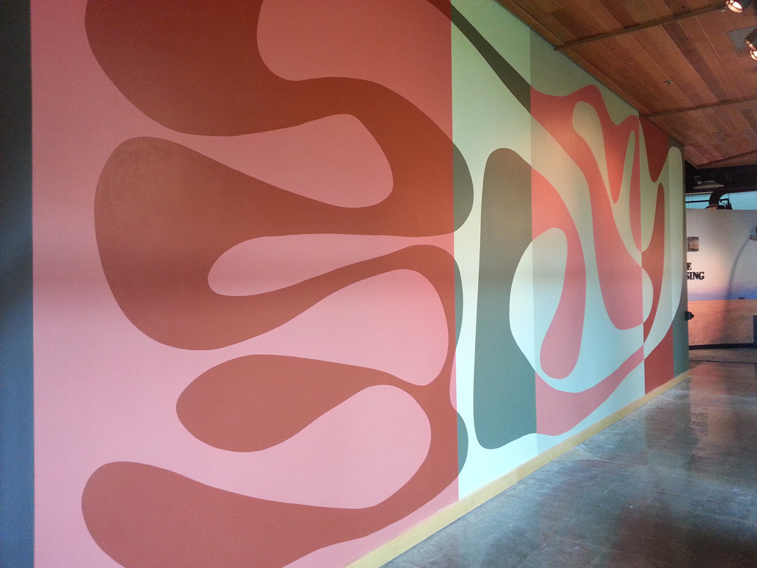Shapeshift: Longmont Museum  latex on wall approx. 10' x 30'