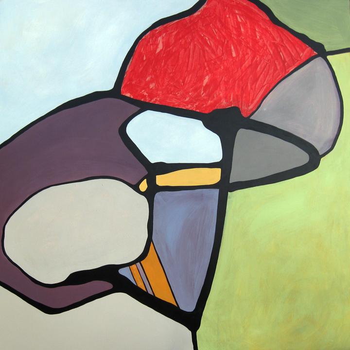 "Clara  Acrylic on panel 48"" x 48"""