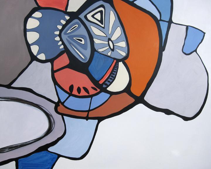 """Cowabunga  Acrylic on panel 60"""" x 48"""""""