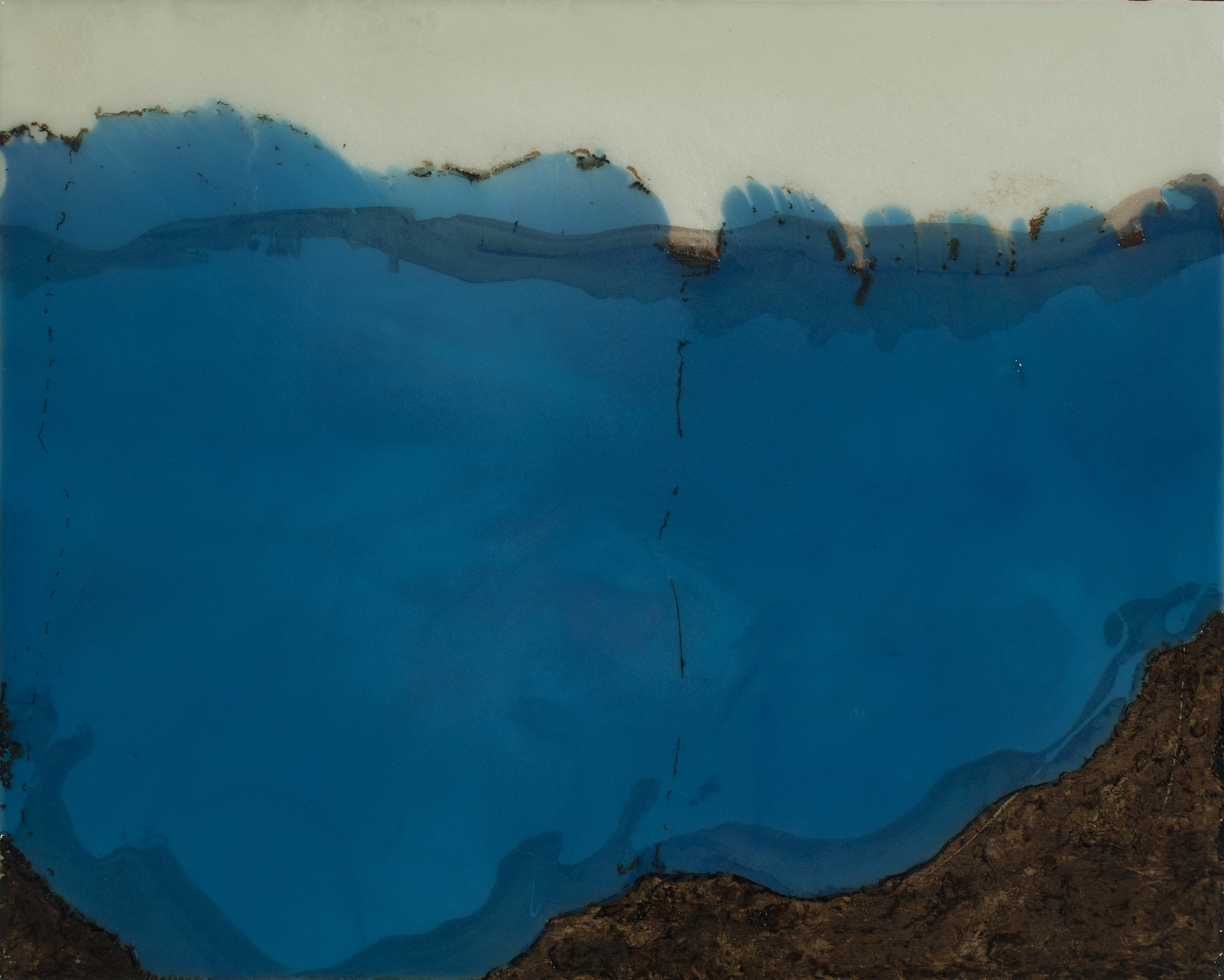 """Nascent  resin & acrylic on panel  20"""" x 16"""""""
