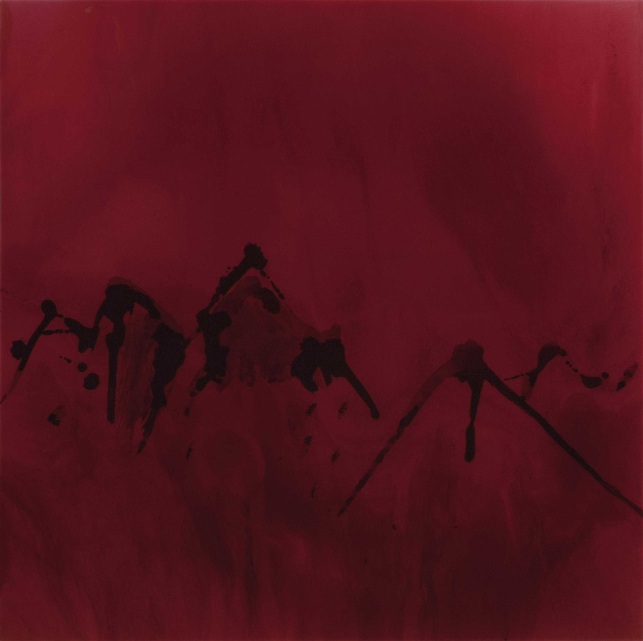 """Dance Upon the Mountains Like A Flame  resin & acrylic on panel  36"""" x 36"""""""
