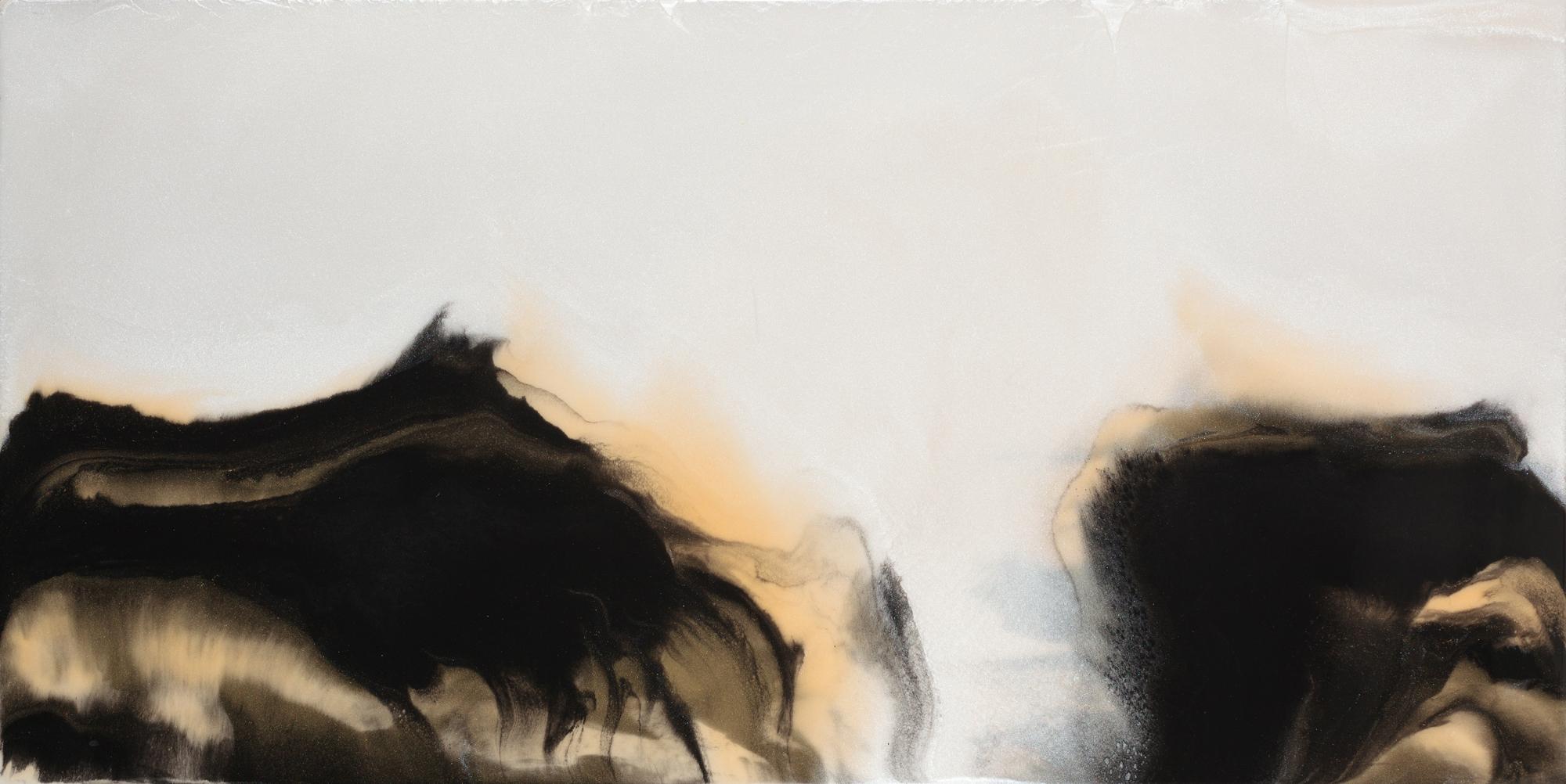 "Cherish the Day  resin & acrylic on panel  48"" x 24"""