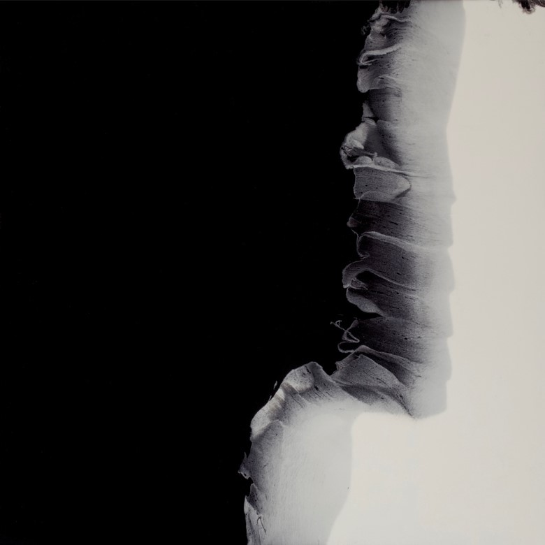 "Black Onyx I  resin &acrylic on panel  36"" x 36"""