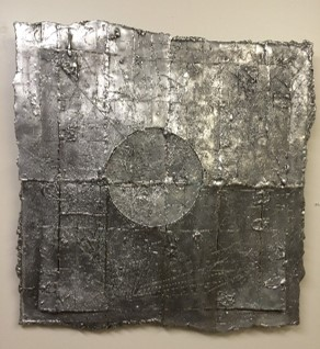 Aluminum Wall Relief  Cast and fabricated aluminum  36x36   $6,200