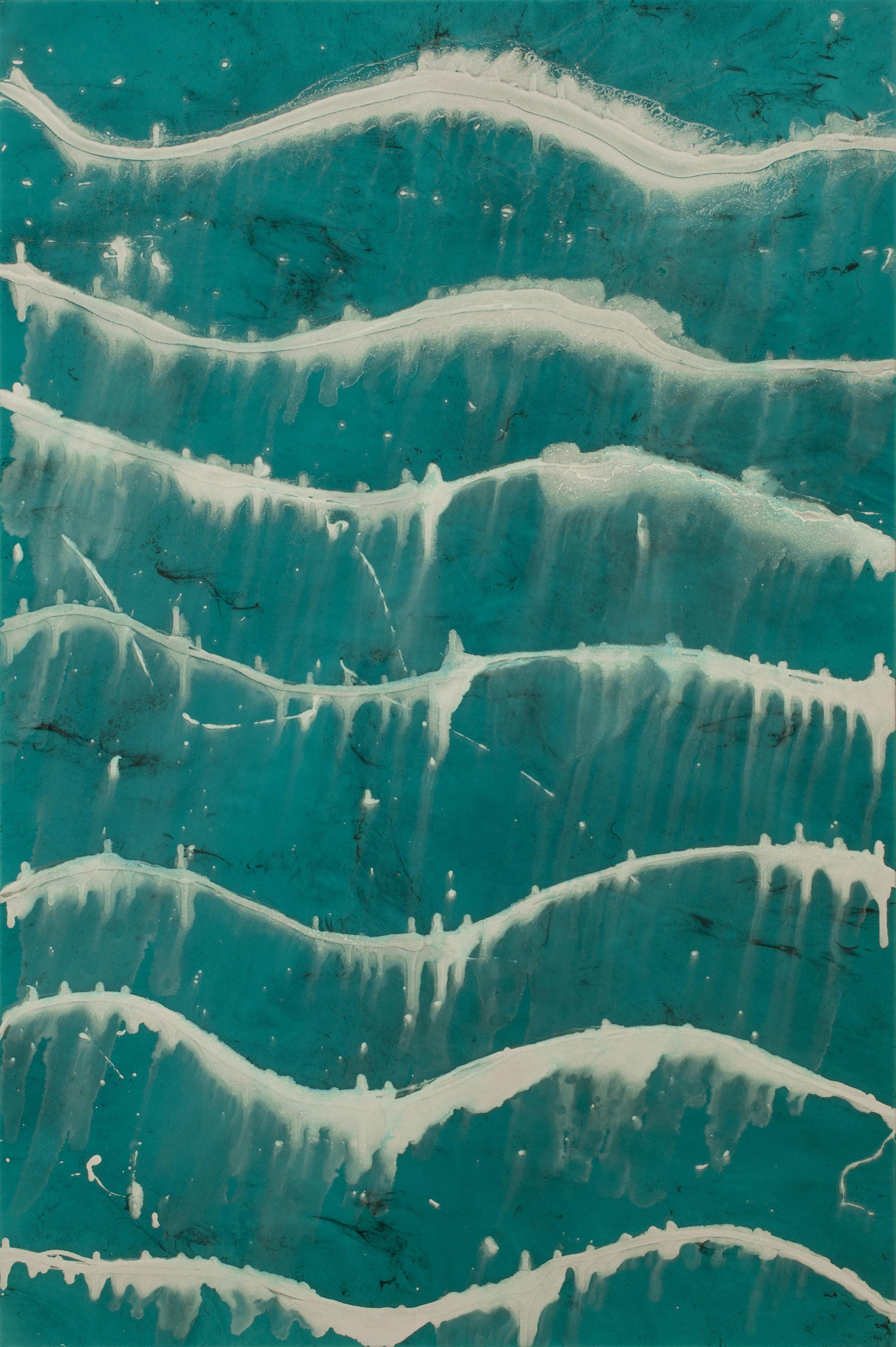 "Supernal  resin & acrylic on panel  40"" x 60"""
