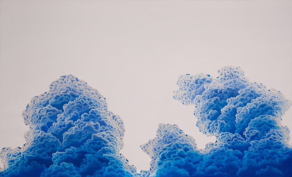"Ultramarine Gloaming  oil on canvas  44"" x 72"""