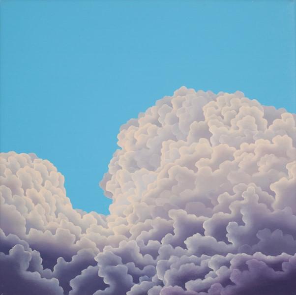 "Aqua Glow  oil on canvas  16"" x 16"""