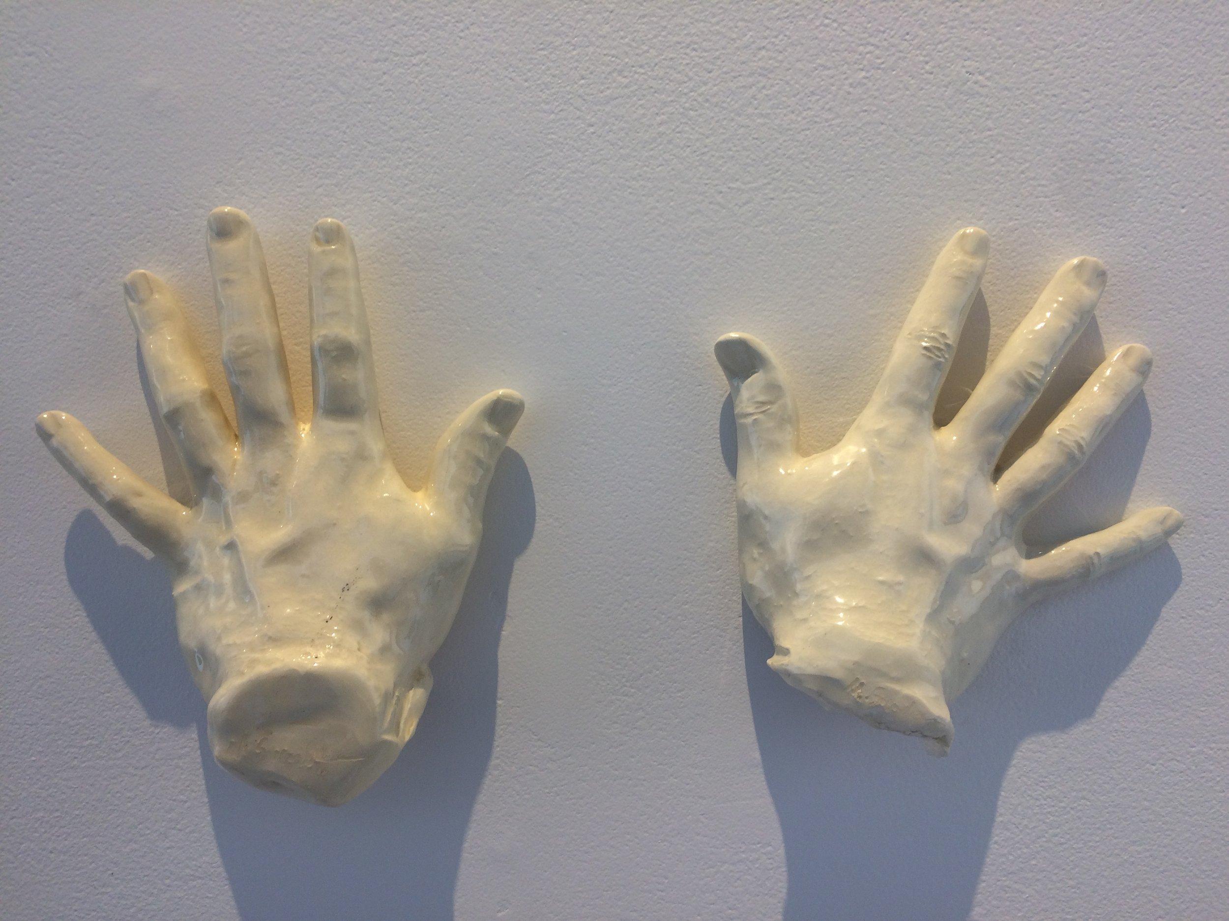 Short Hand (Celebration)  ceramic  8x16