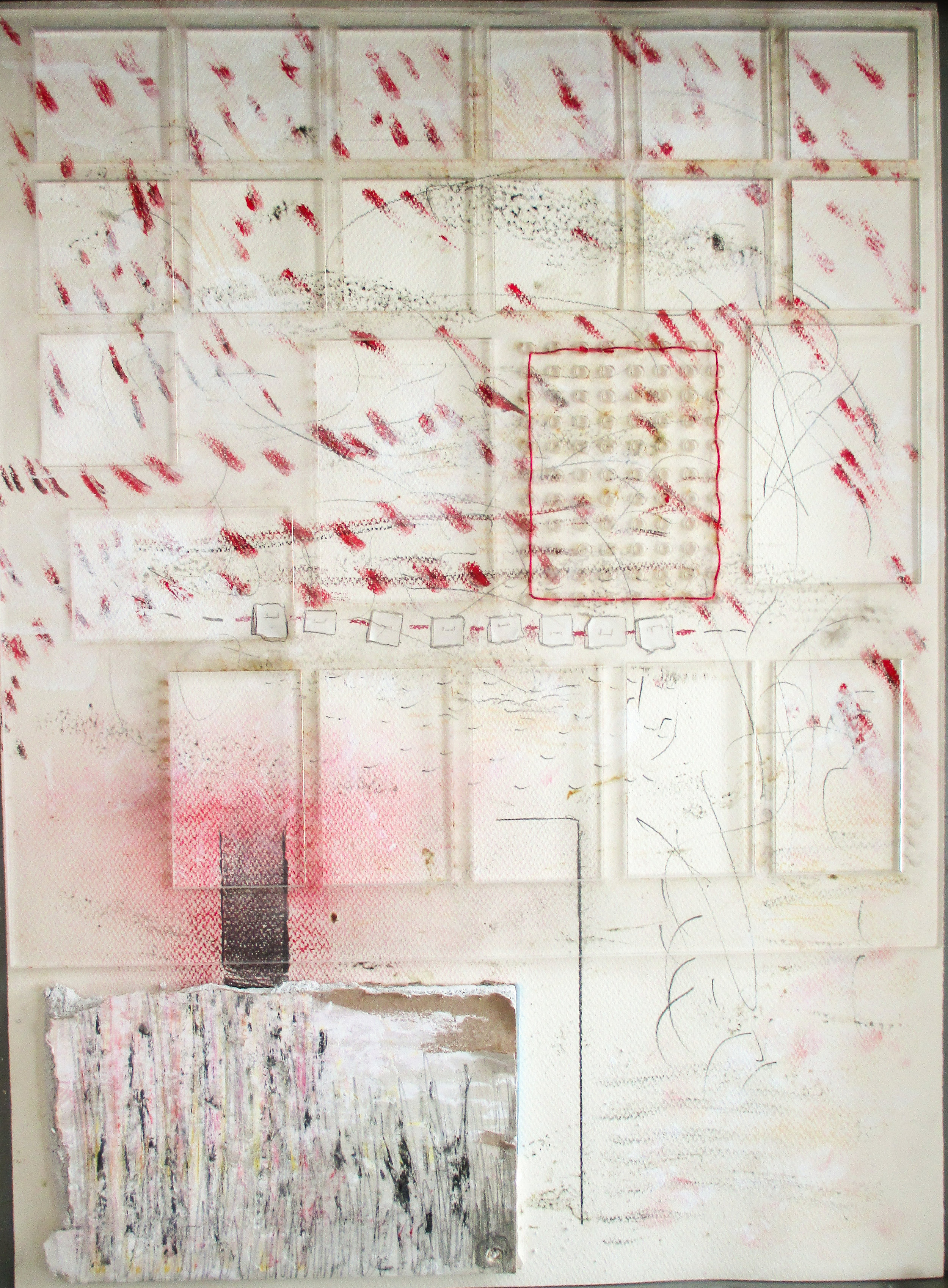 """Making Order Out of Chaos  mixed media  35"""" x 27"""""""
