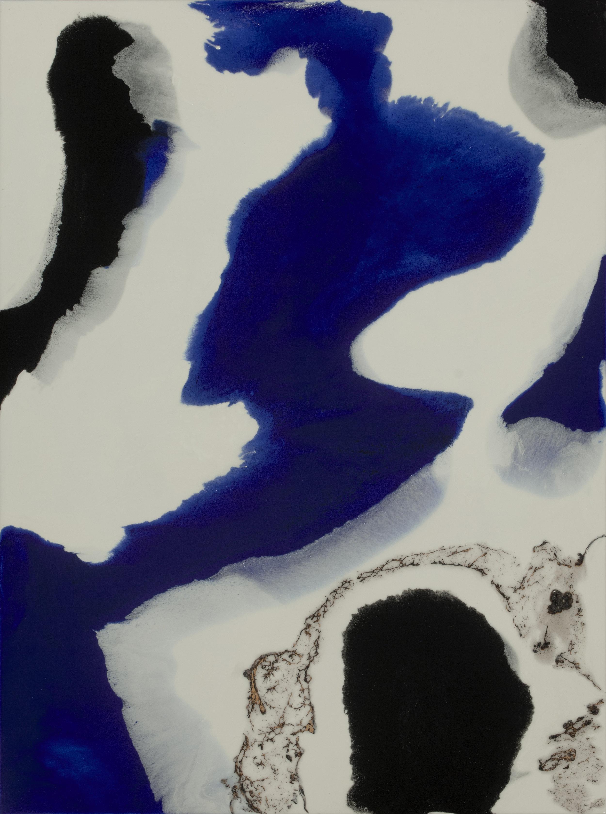 "Secrets  acrylic & resin on panel  30"" x 40"""